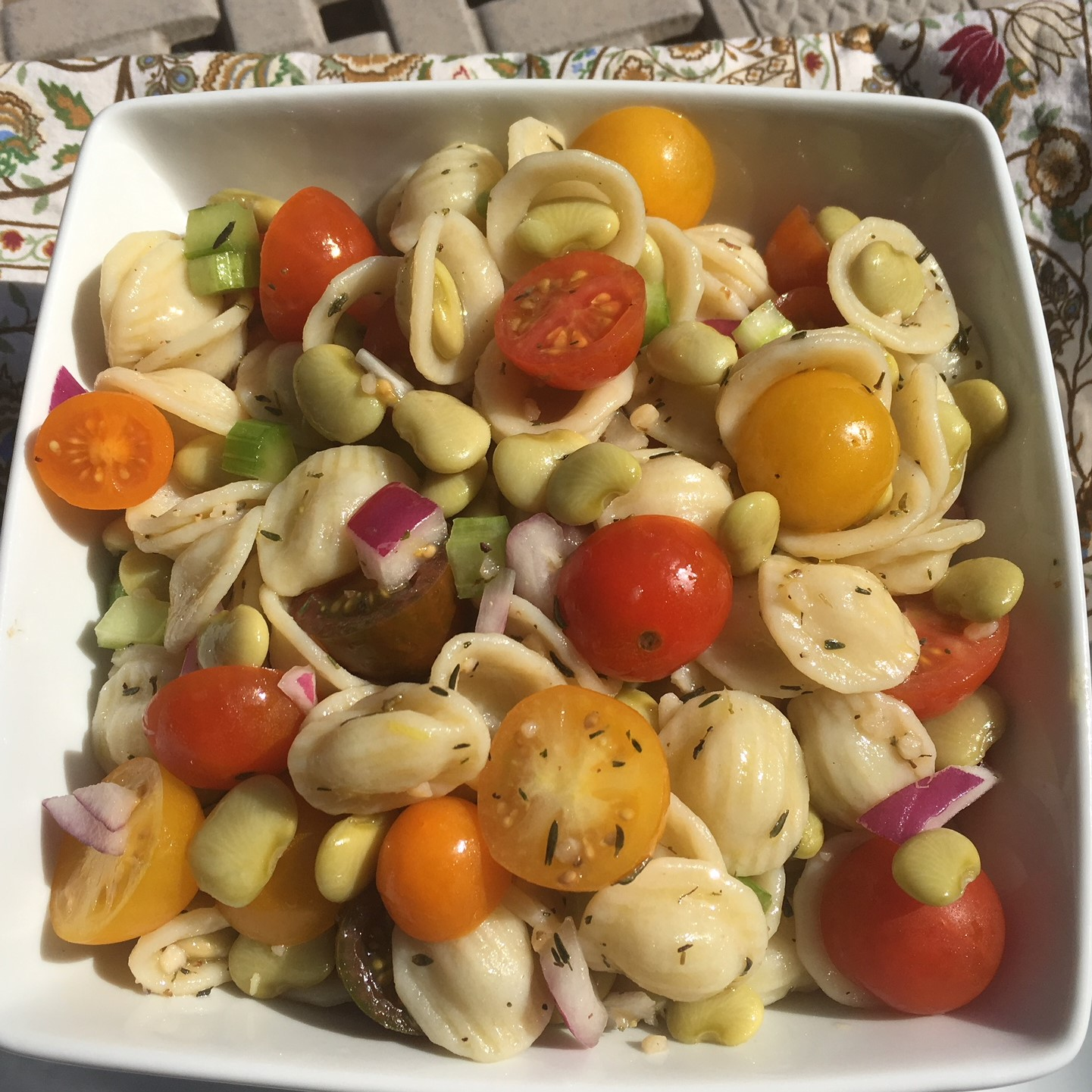 Tuscan Fava Bean and Orecchiette Pasta Salad