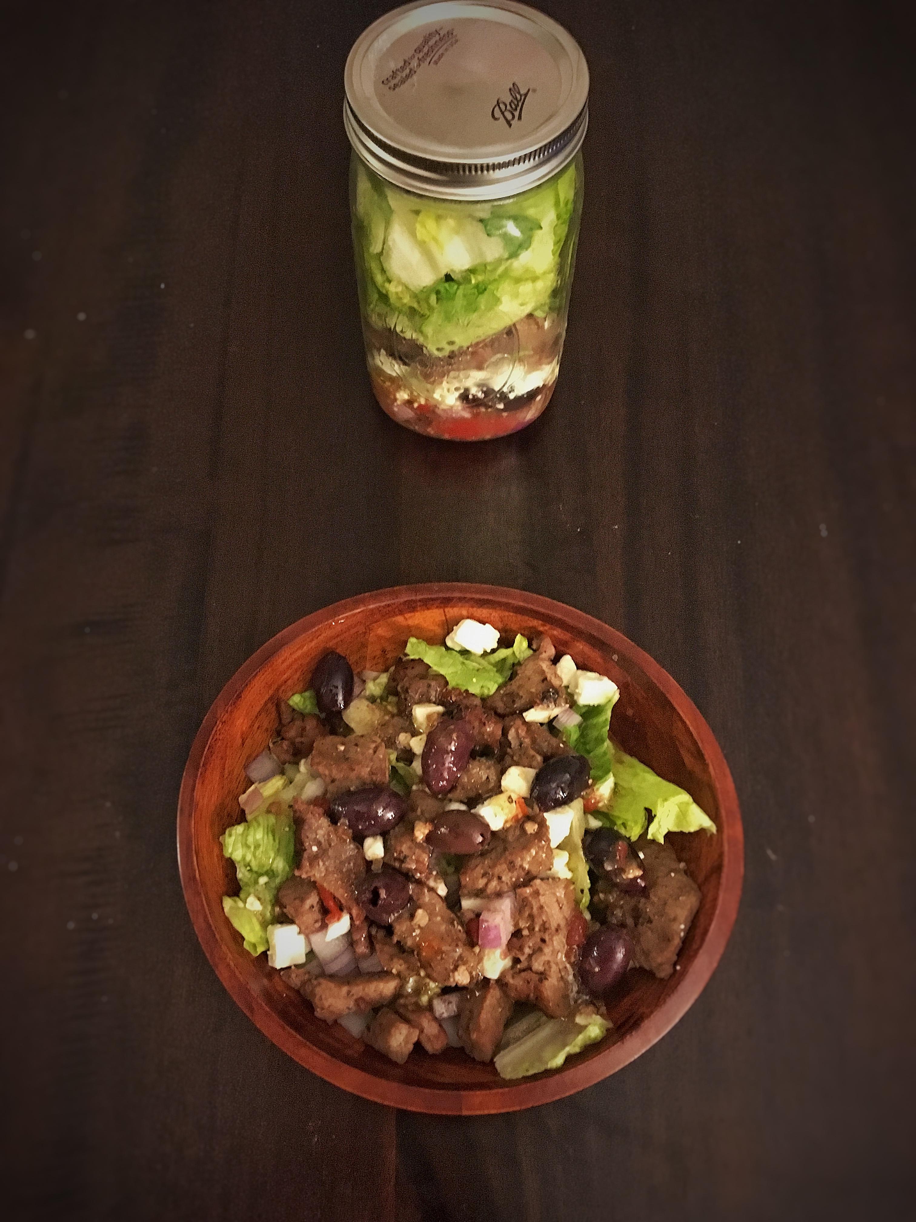 Greek Mason Jar Steak Salad B. Tario
