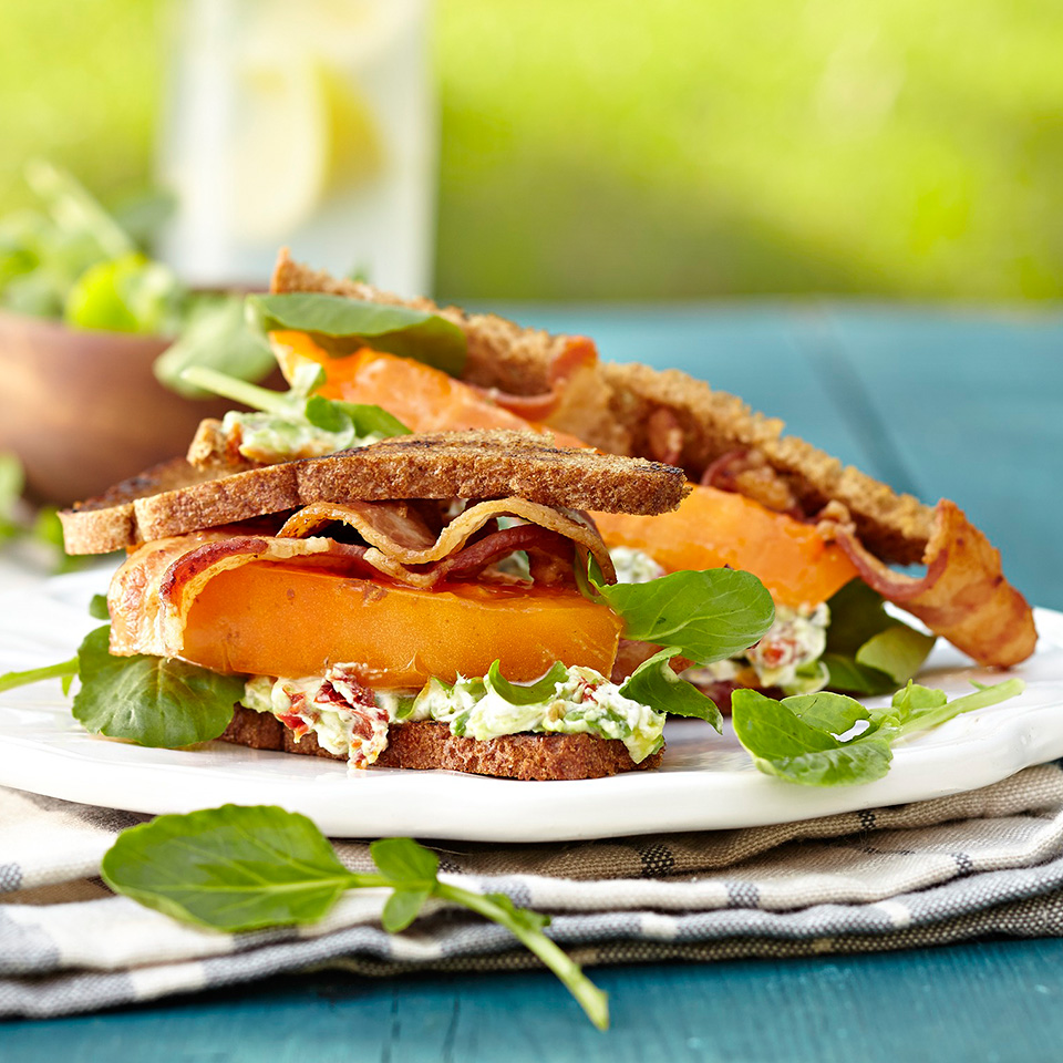 BLTs with Creamy Tomato-Avocado Spread