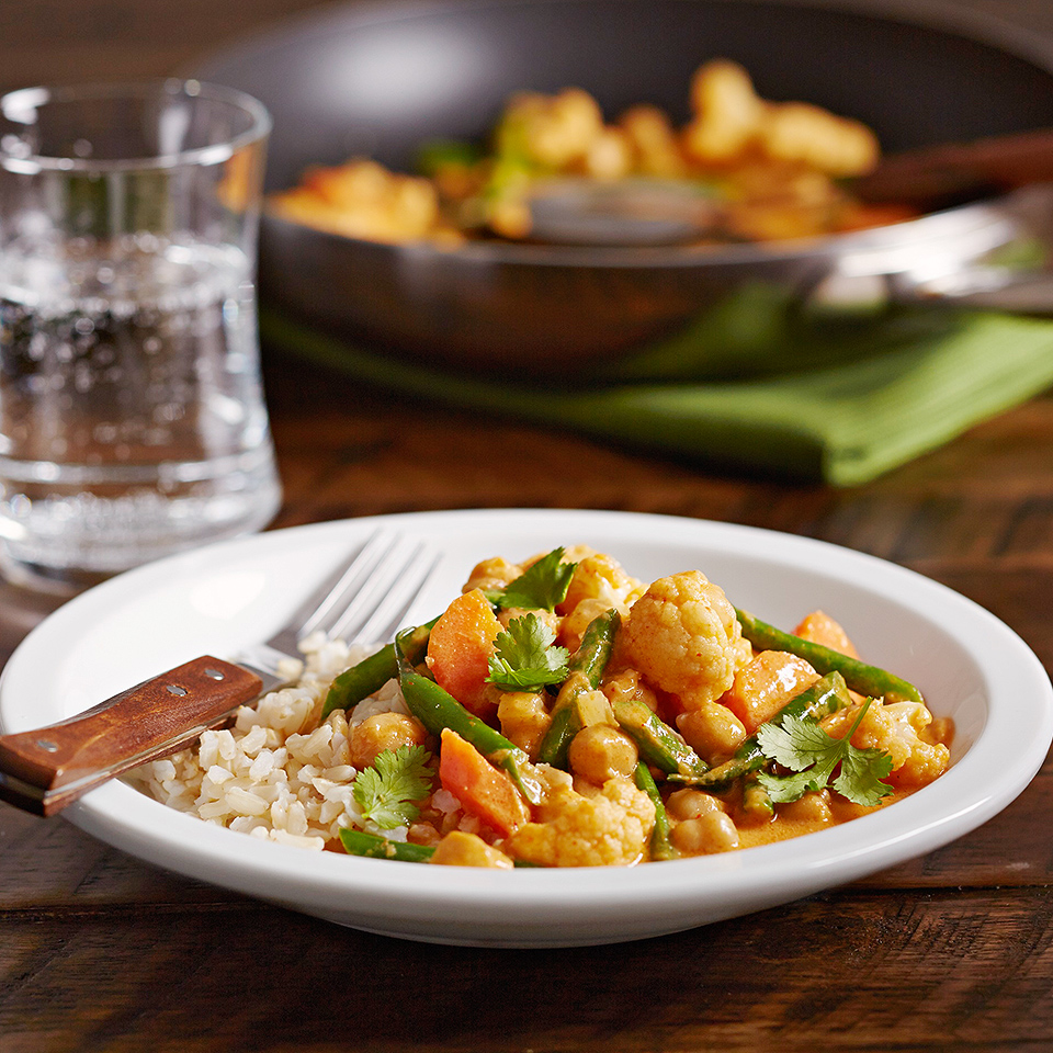 This Asian-inspired recipe uses coconut milk, ginger, and curry for a robust flavor.