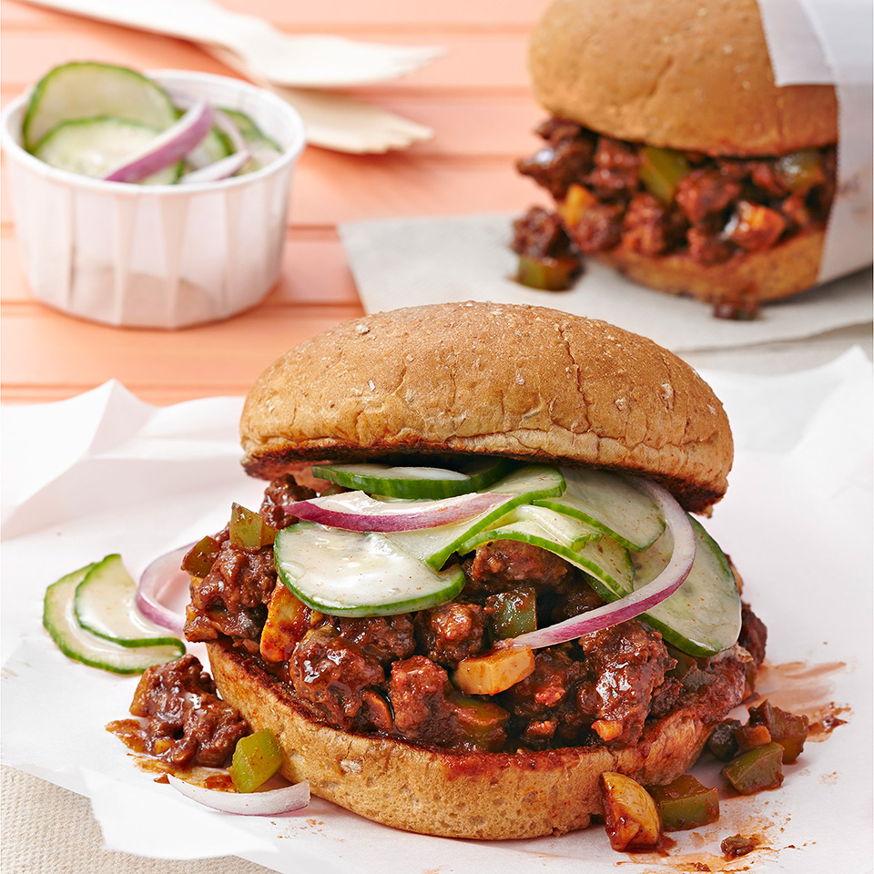 Sloppy Joes with Honey and Spice  Pickles Diabetic Living Magazine