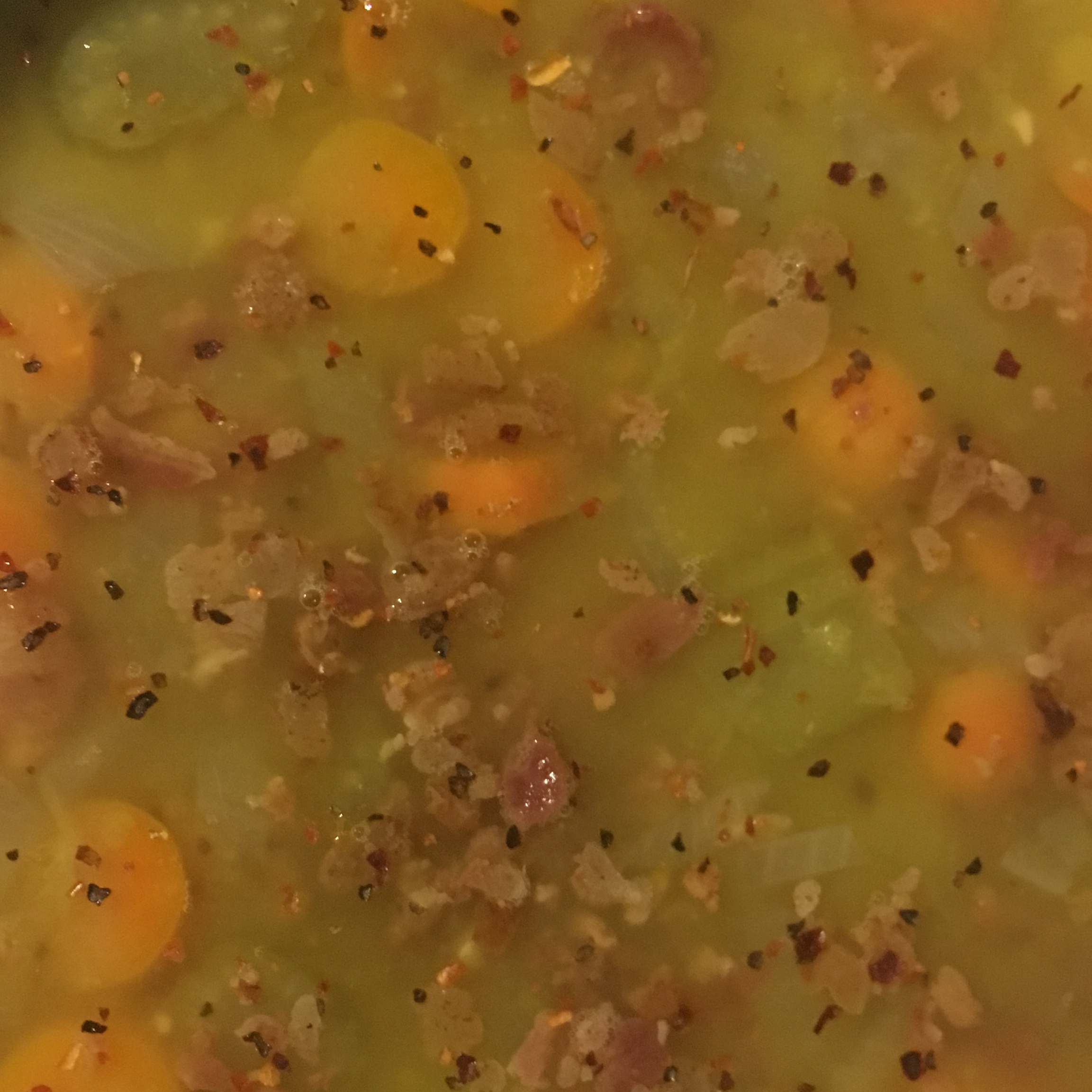 Slow Cooker Split Pea Sausage Soup NurseCarol1974