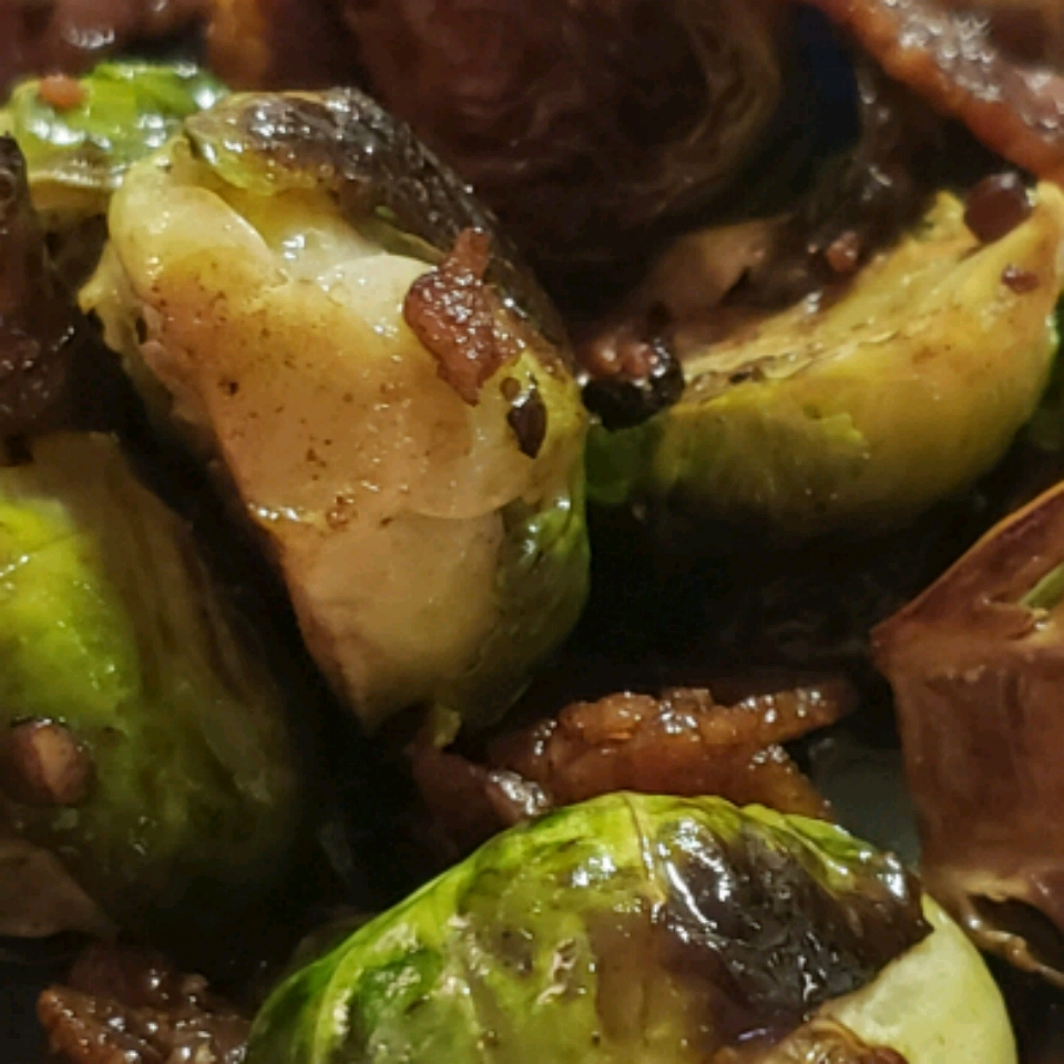Glazed Brussels Sprouts with Bison Bacon Alice Youngblood