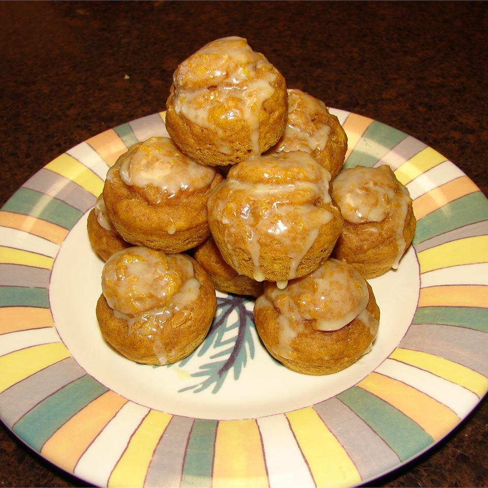 Mini Pumpkin Muffins with Orange Drizzle