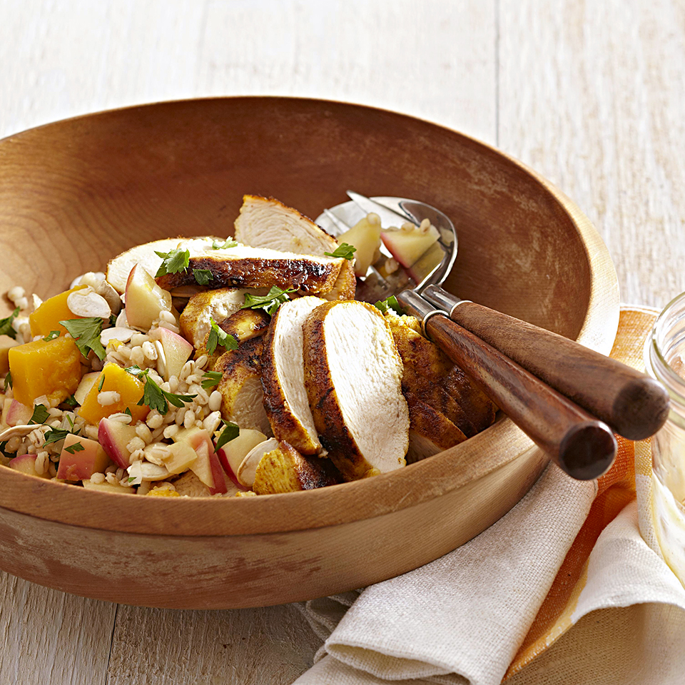 Chicken with Squash-Barley Pilaf Trusted Brands