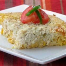 Chicken Suiza Cornbread Bake mominml