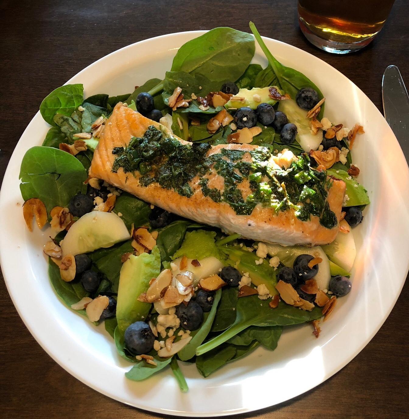 Grilled Salmon with Cilantro Sauce Nancy Gifford Wilson