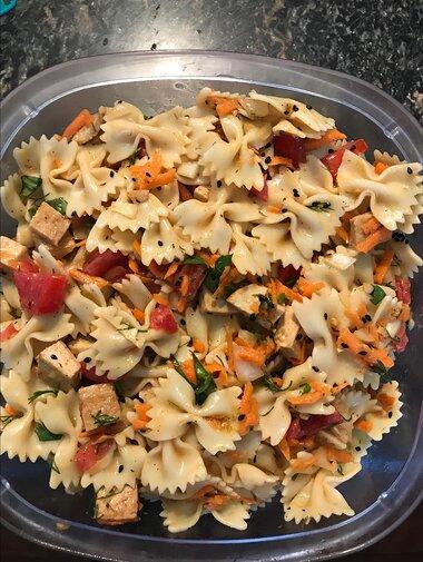 tofu pasta salad recipe