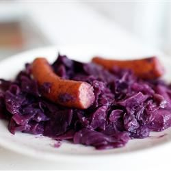 Polish Sausage with Red Cabbage sarah marie