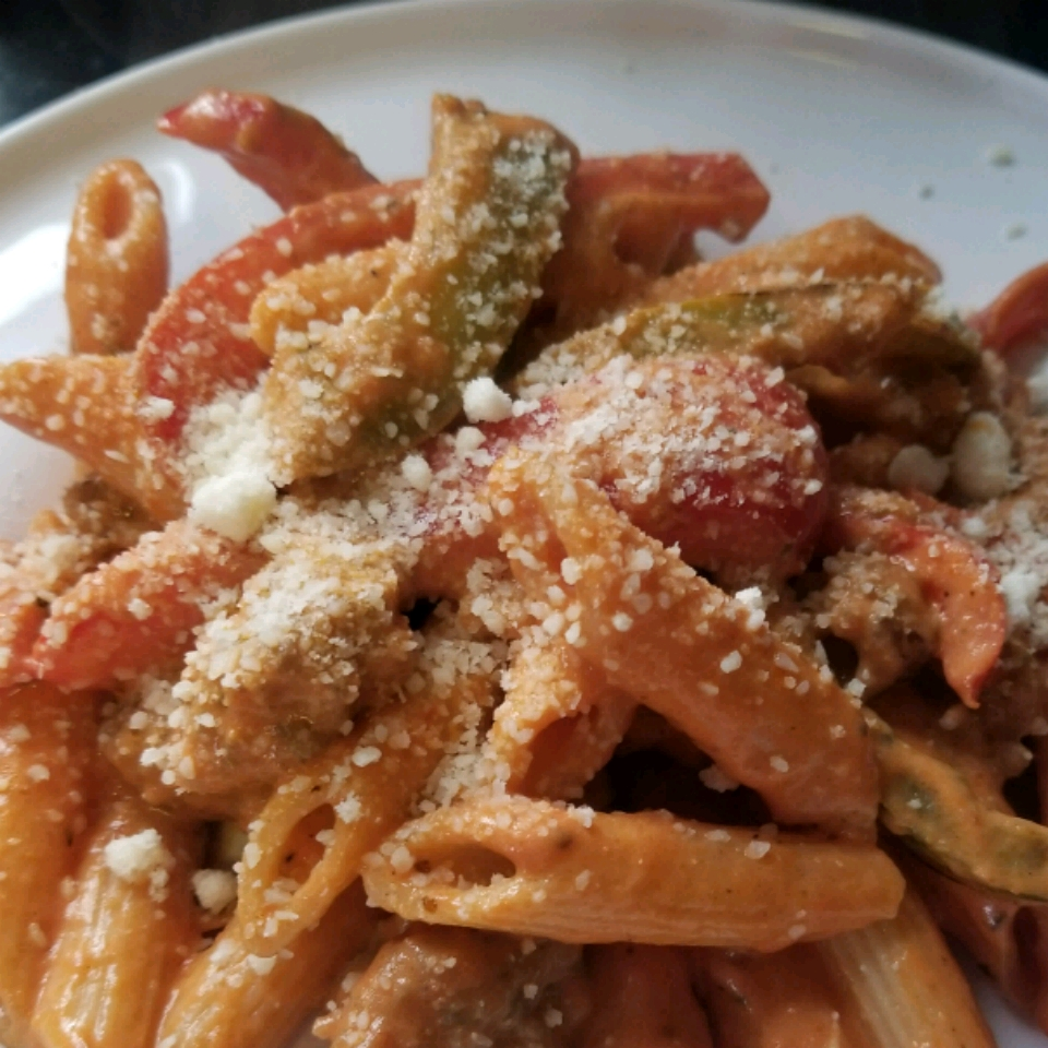 Zesty Penne, Sausage and Peppers Susan Profitt