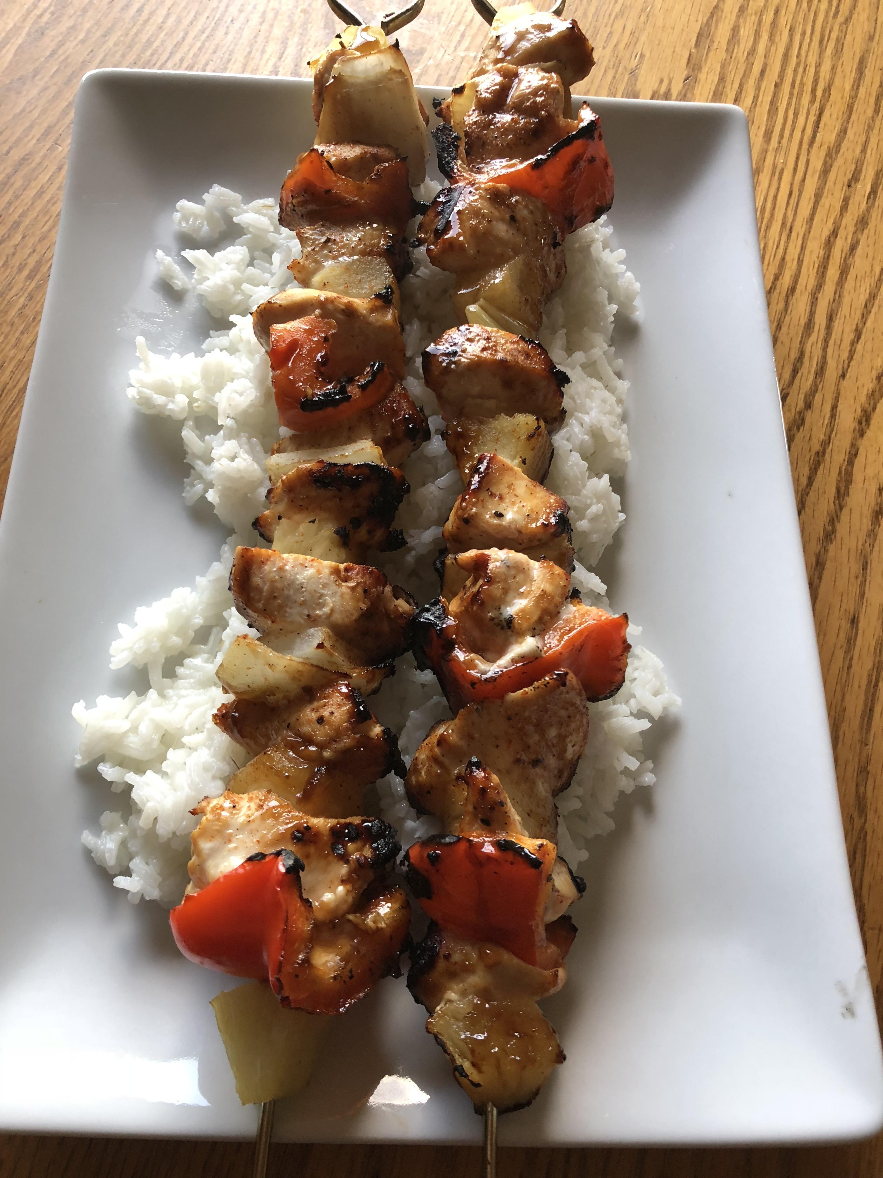 Caribbean-Inspired Grilled Chicken Kabobs Richard Dasen Jr