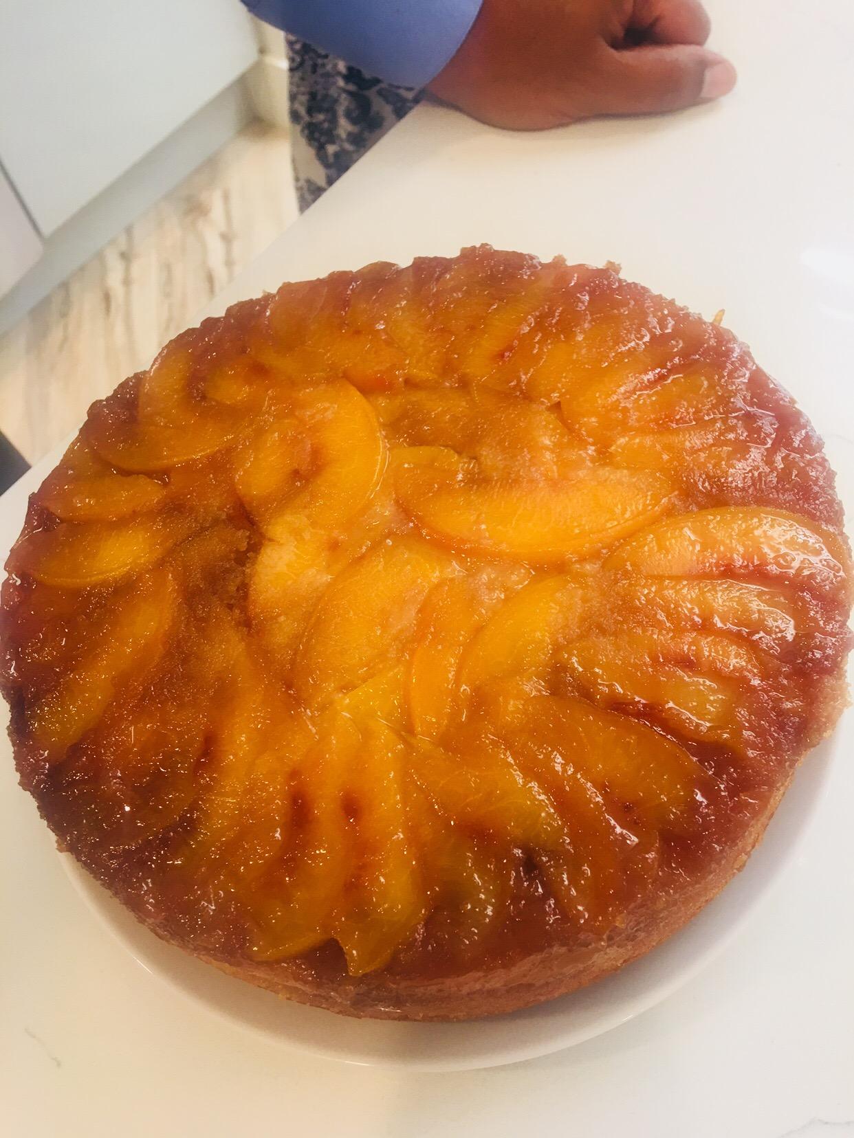 Nectarine Upside-Down Cake Laka kuharica - Easy Cook