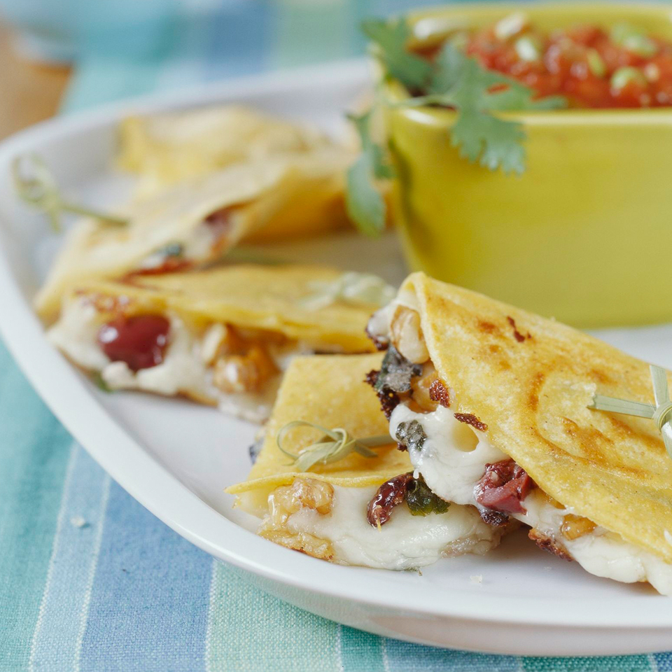 Walnut and Olive Quesadillas Diabetic Living Magazine