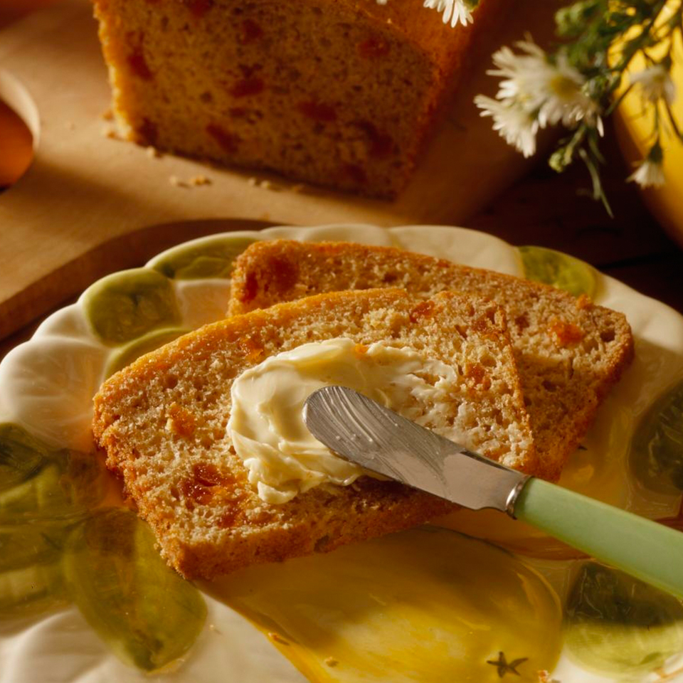 This low-fat quick bread has twice the apricot flavor! Canned apricots are blended and mixed in to flavor the bread while snipped dried apricots add texture to each bite. Try a slice for breakfast or for a late afternoon snack.Source: Diabetic Living Magazine