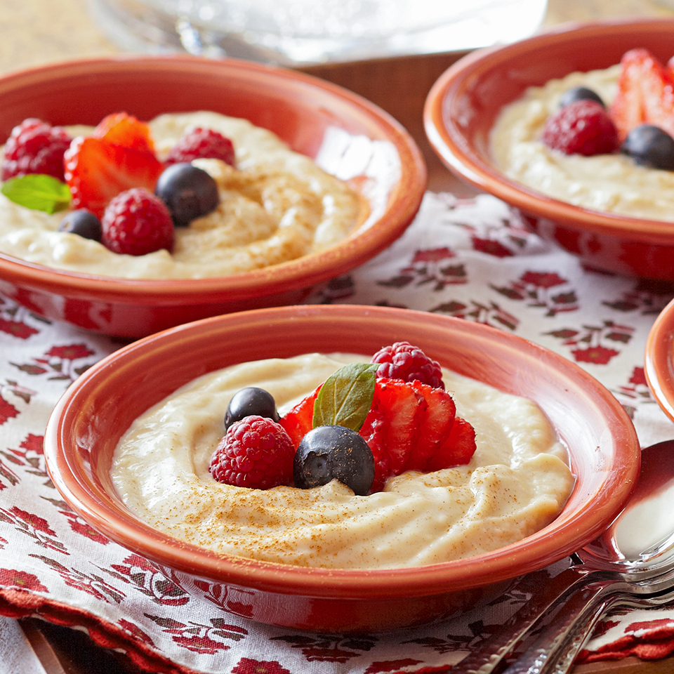 Cinnamon Custard with Berries Diabetic Living Magazine