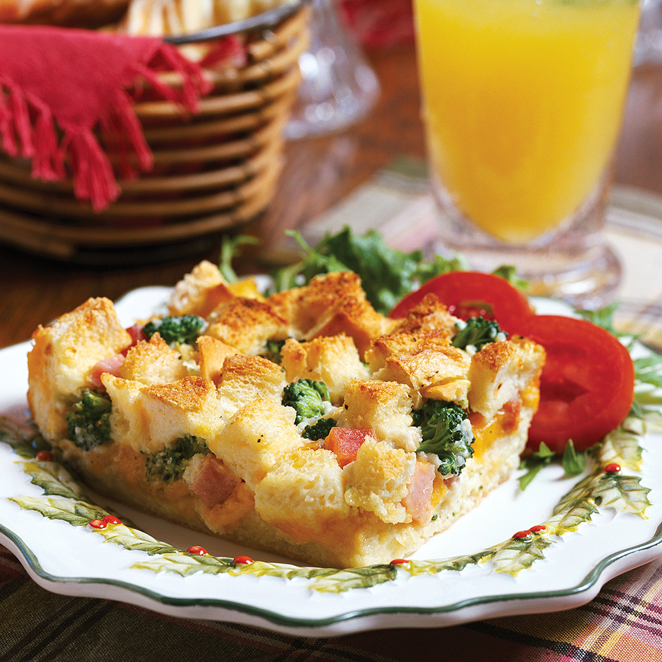 Ham-Broccoli Strata Diabetic Living Magazine