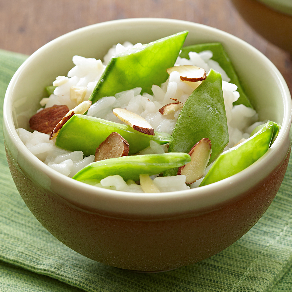 Coconut Rice with Snow Peas Trusted Brands