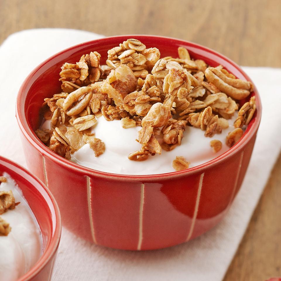 Oat-Walnut Granola and Yogurt Diabetic Living Magazine