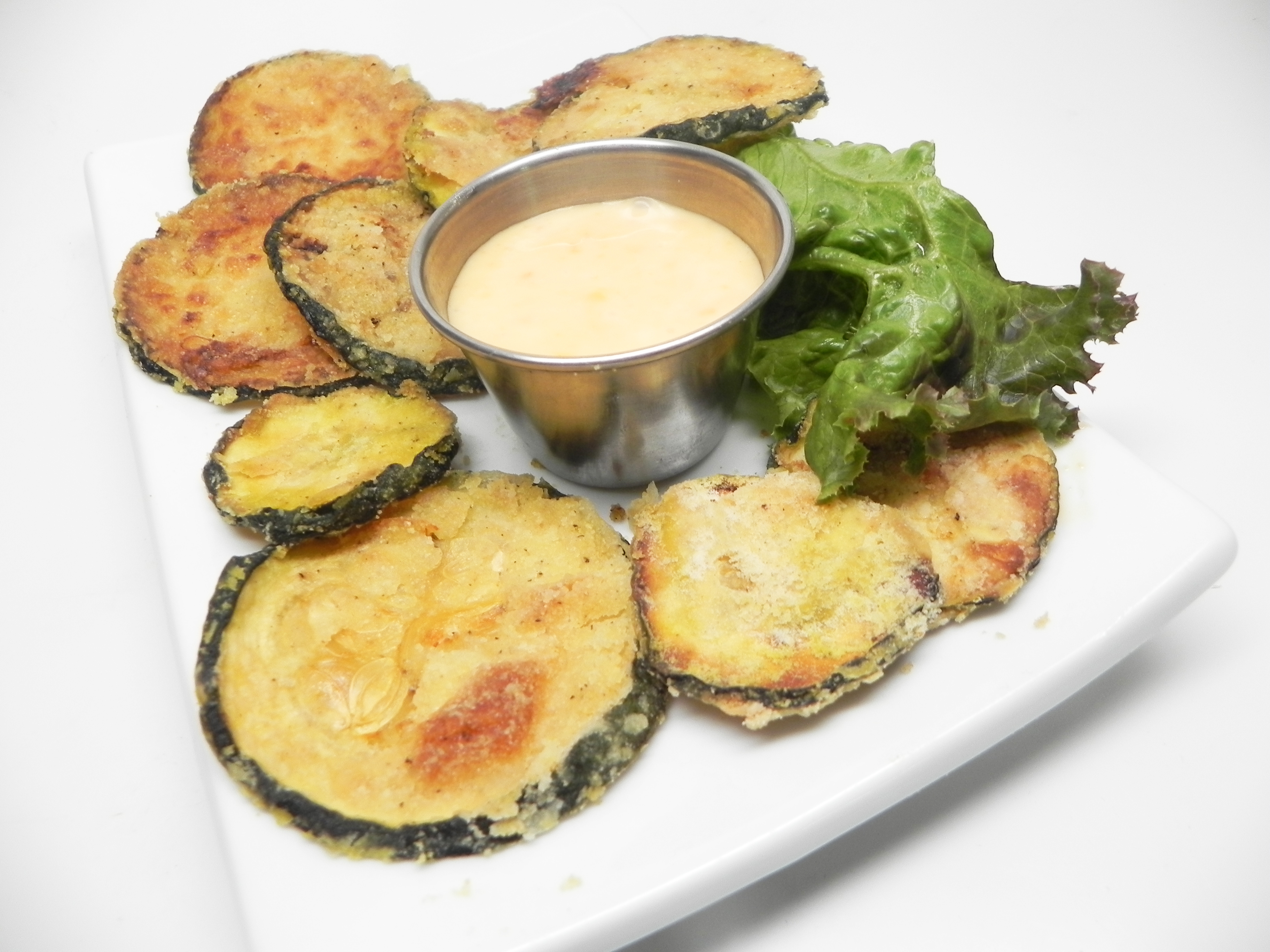 Vegan Crispy Baked Zucchini Rounds