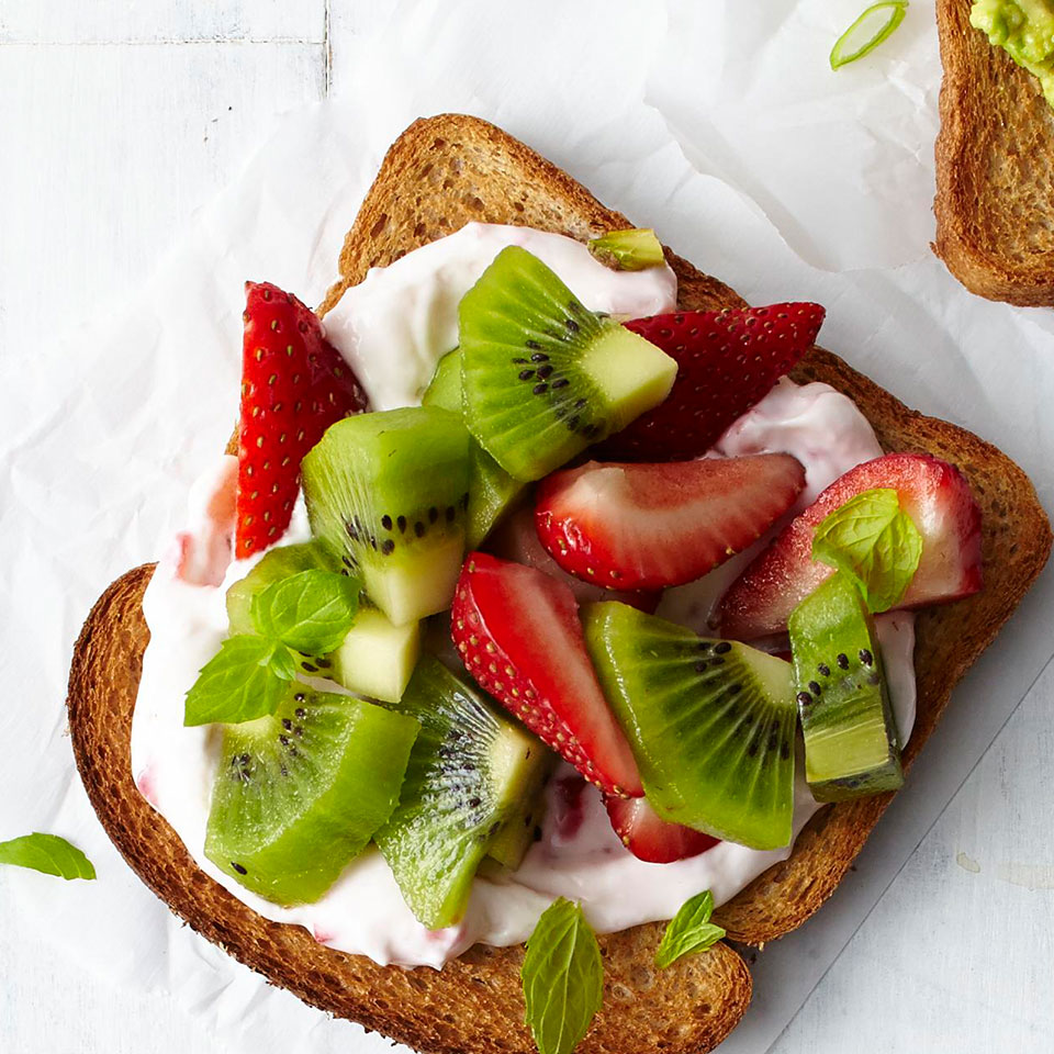 Strawberry-Kiwi Cheesecake Toast Trusted Brands