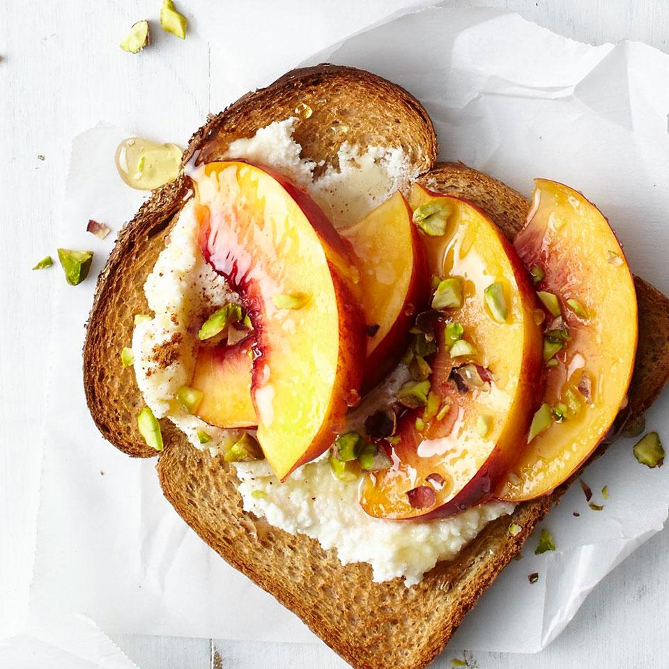 Pistachio & Peach Toast Trusted Brands