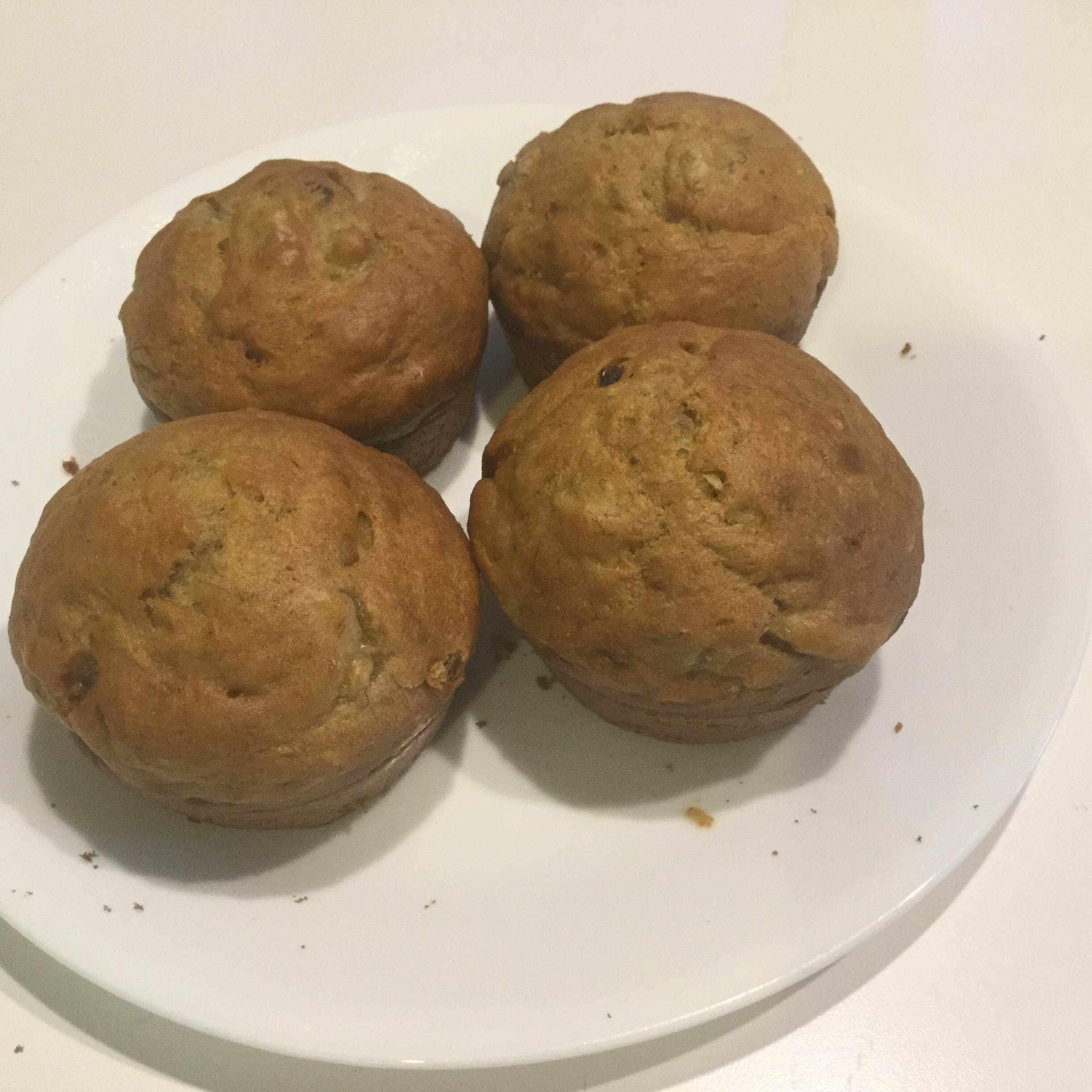 Healthy Banana Cranberry Muffins