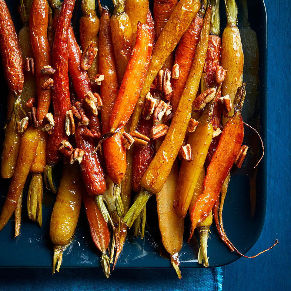 A little bit of cayenne adds an unexpected kick to these classic roasted carrots.
