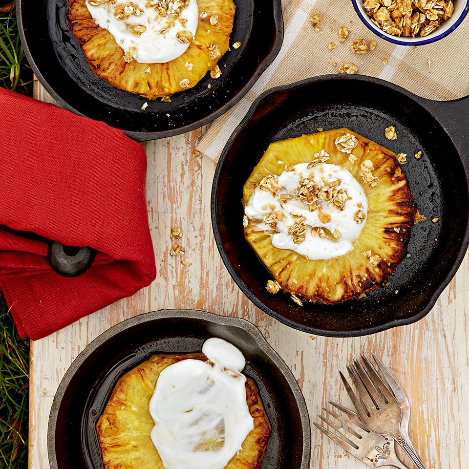 Pineapple with Honeyed Yogurt and Granola Trusted Brands