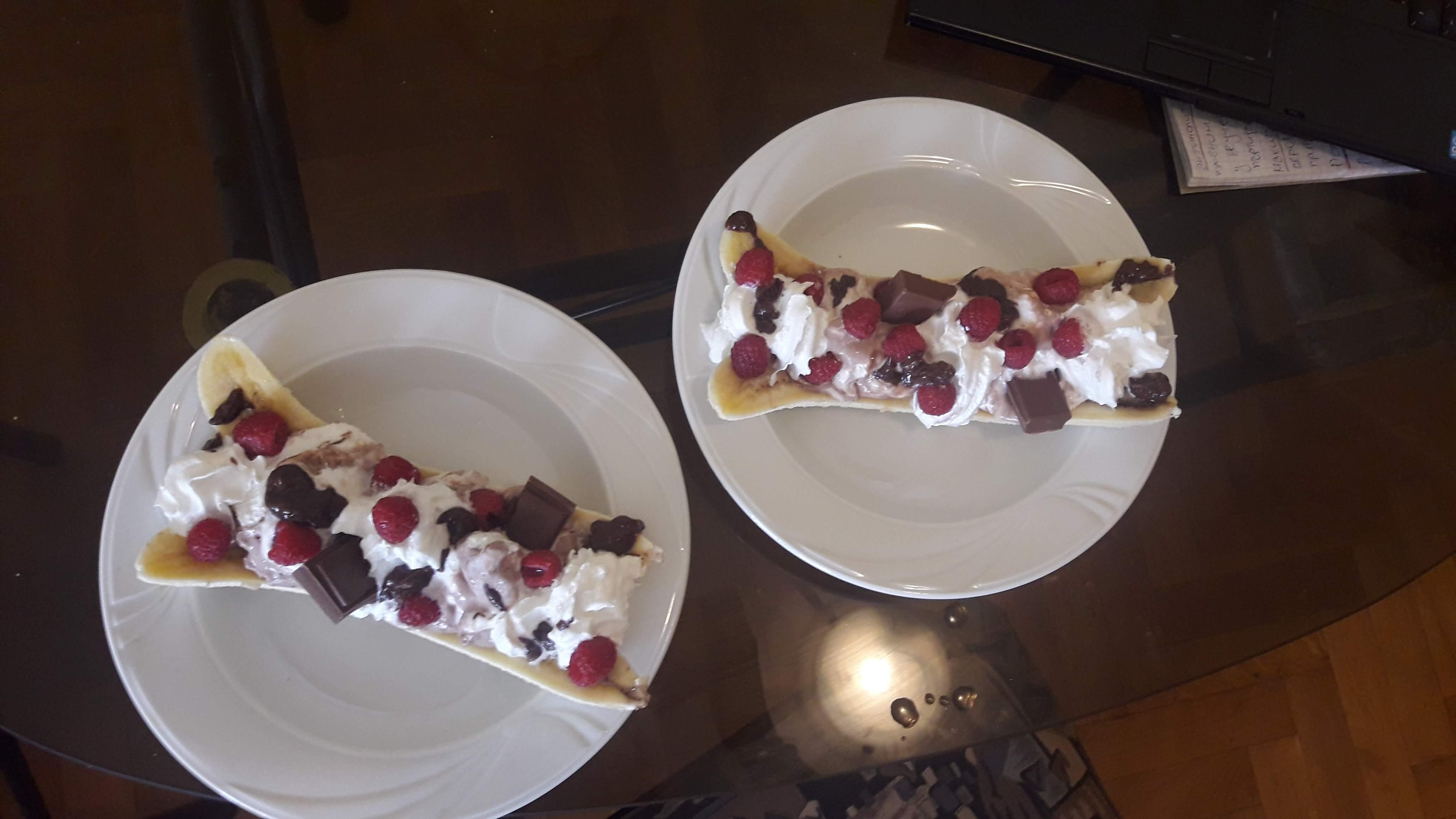 Banana Split with Raspberries Tamara Lazarevic