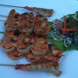 Grilled Marinated Shrimp ashiraya