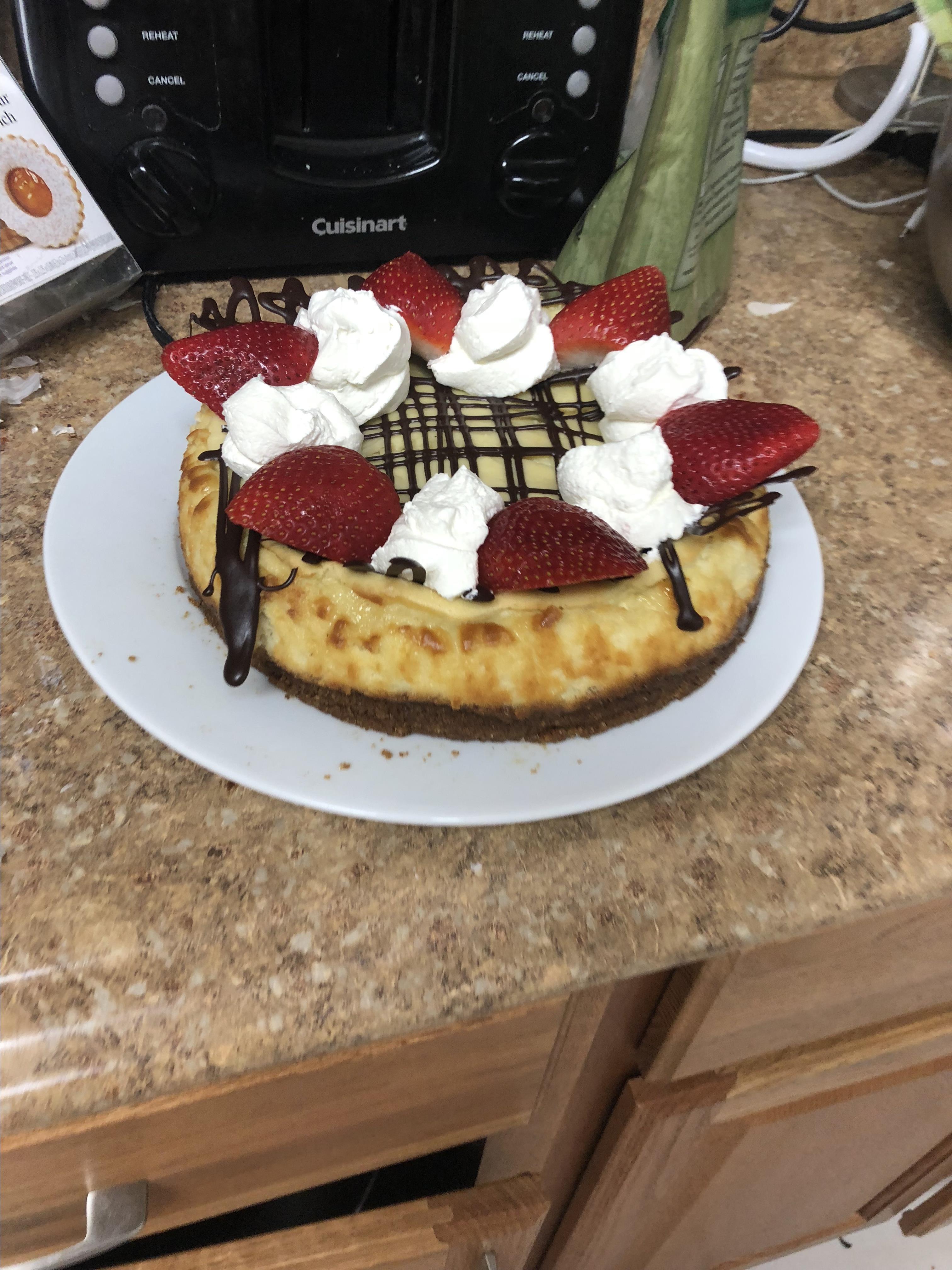 Easy Sour Cream Cheesecake