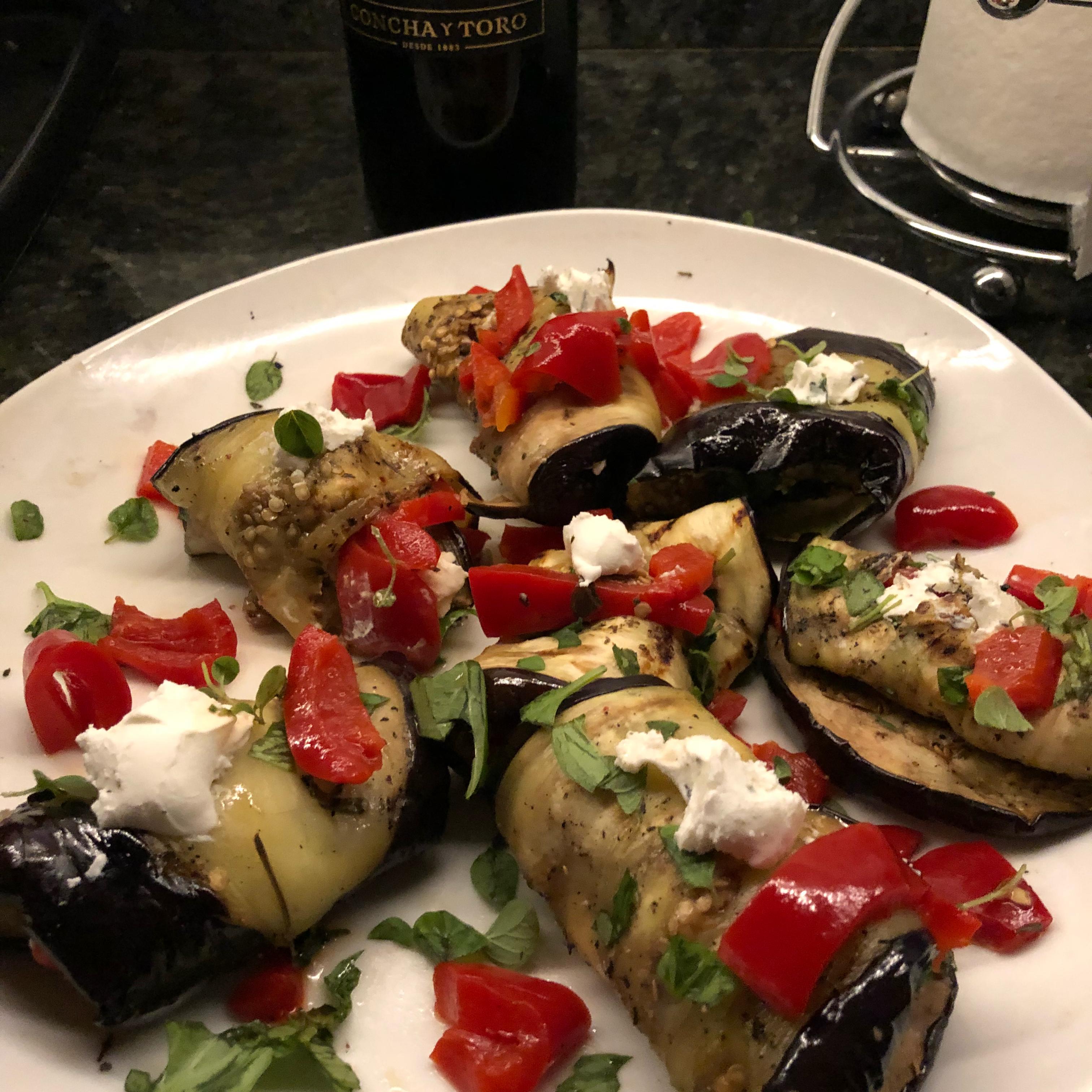 Grilled Eggplant Rollups titan