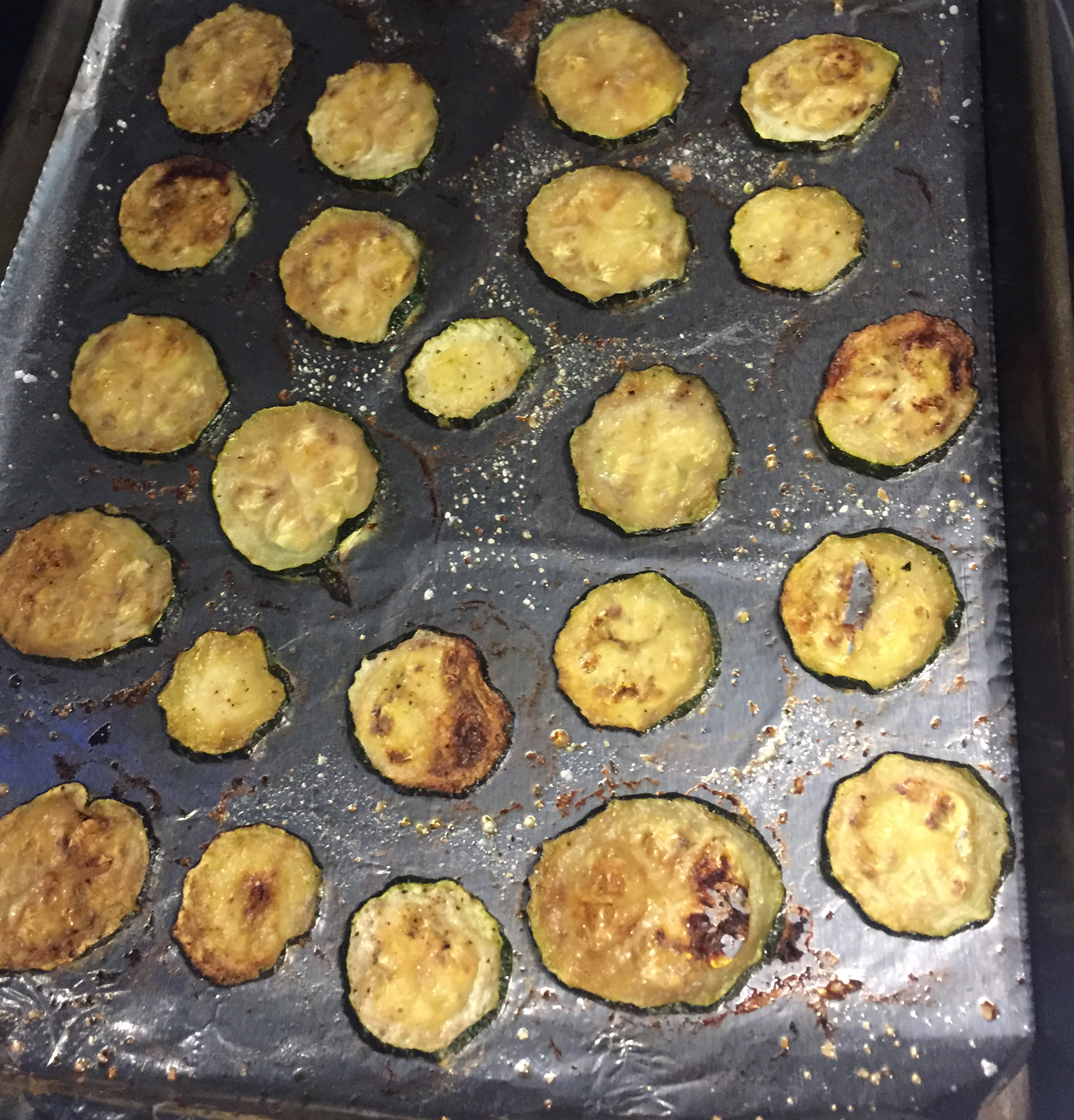 Easy Baked Zucchini Chips Steph