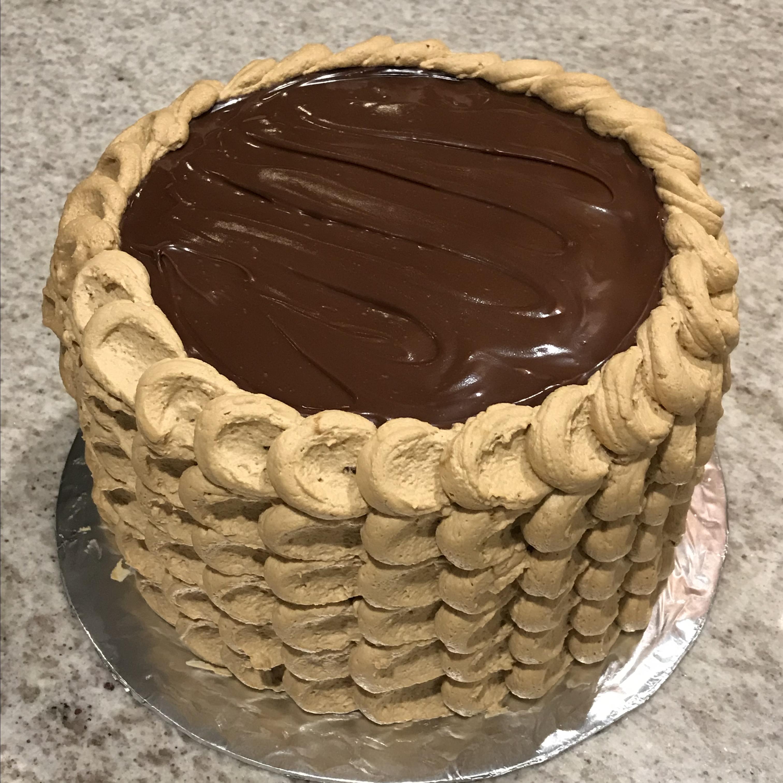 Three-Layer Chocolate Cake with Irish Coffee Frosting