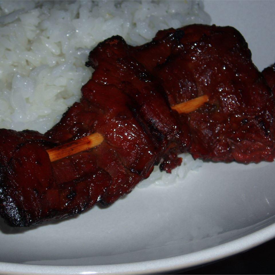 Asian Beef Skewers Angela F.