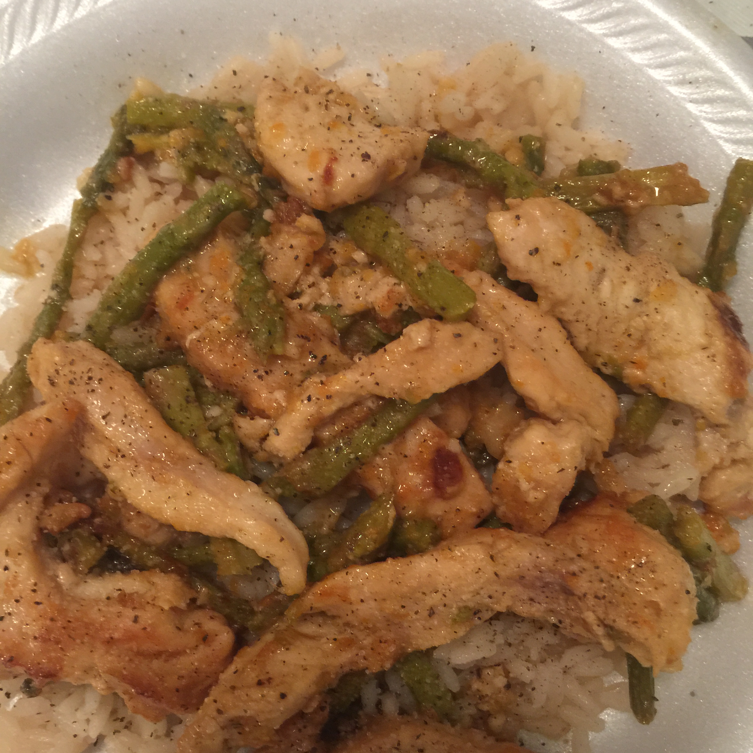 Orange Chicken with Asparagus Cindy Lewis