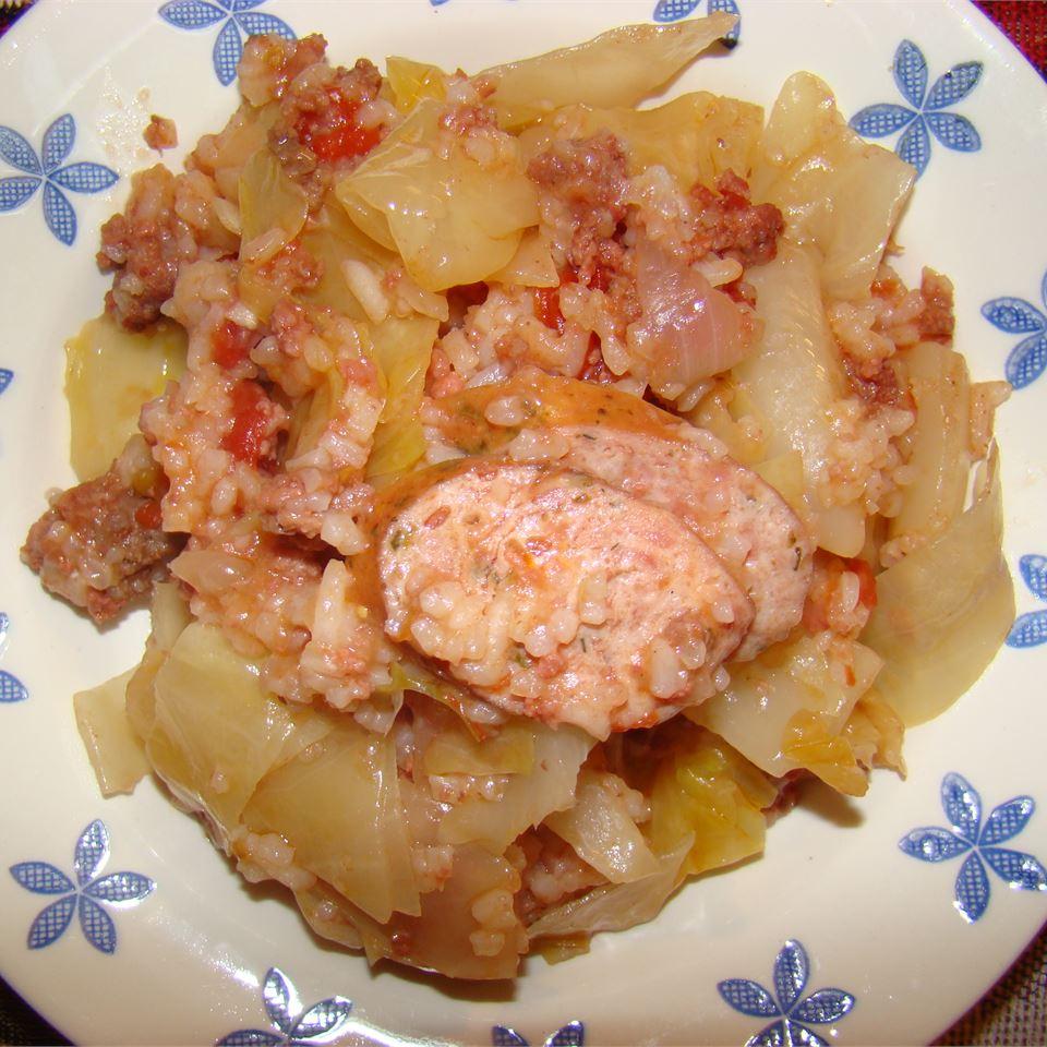 Cabbage Jambalaya Erica Ribeiro Sampaio
