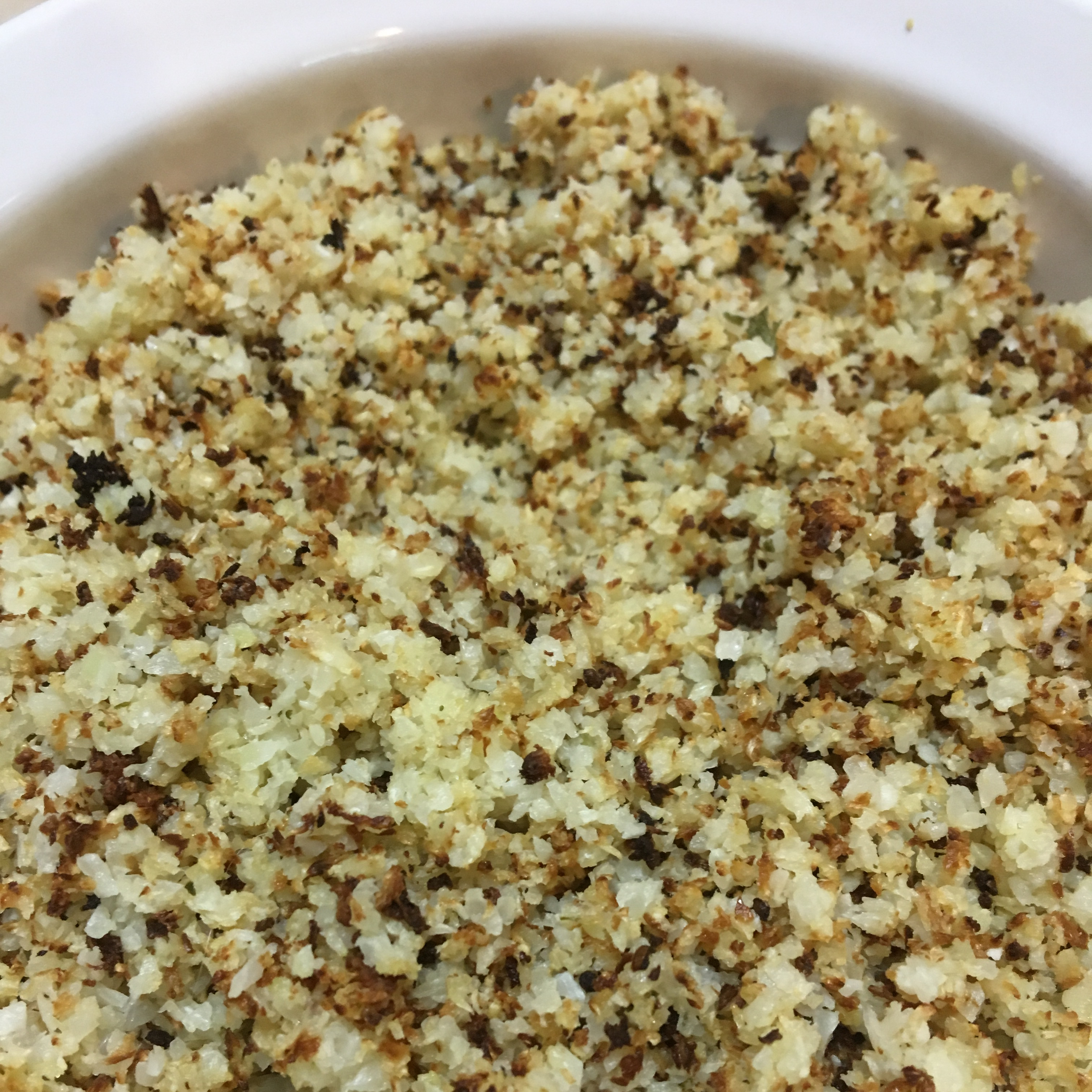 "Roasted Cauliflower ""Rice"""