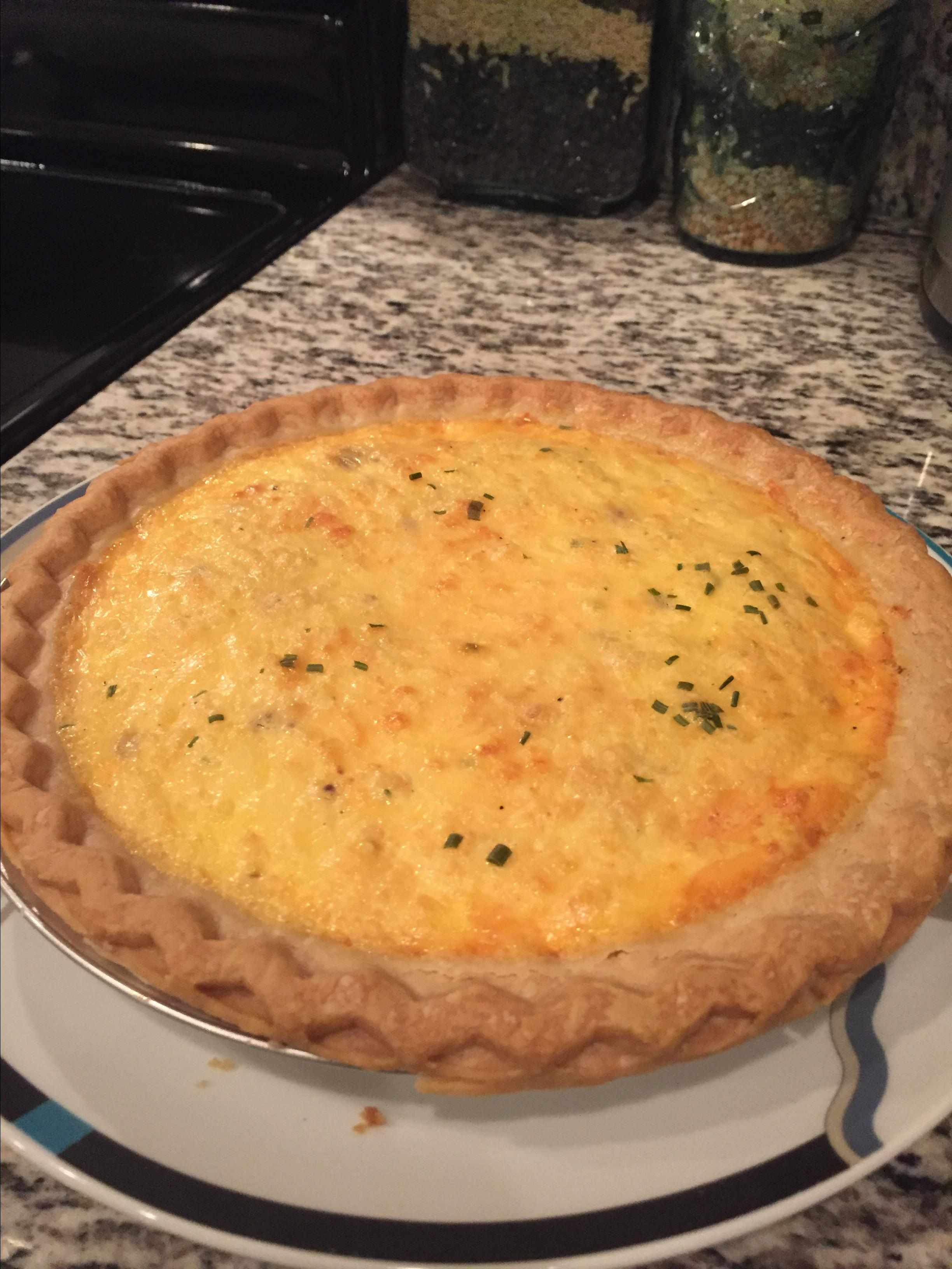 Creamy Ham and Cheese Quiche jeff