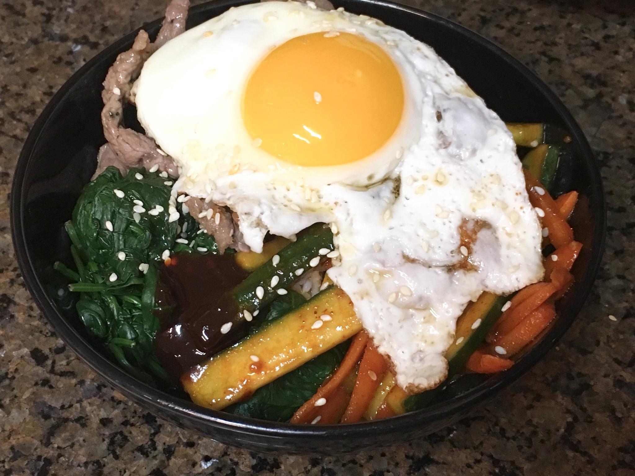 Bibimbap (Korean Rice With Mixed Vegetables)
