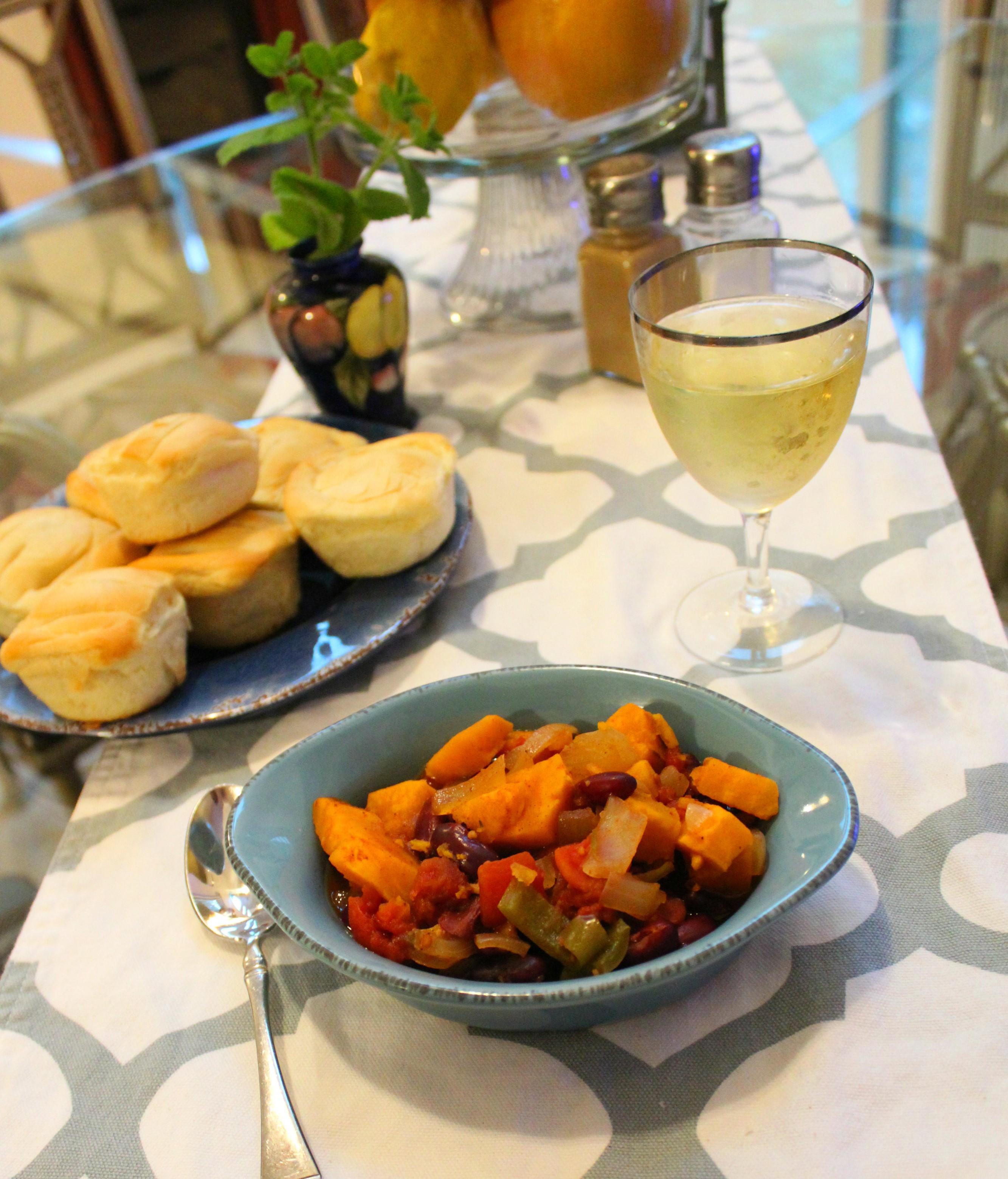 Slow Cooker Vegan Sweet Potato Chili