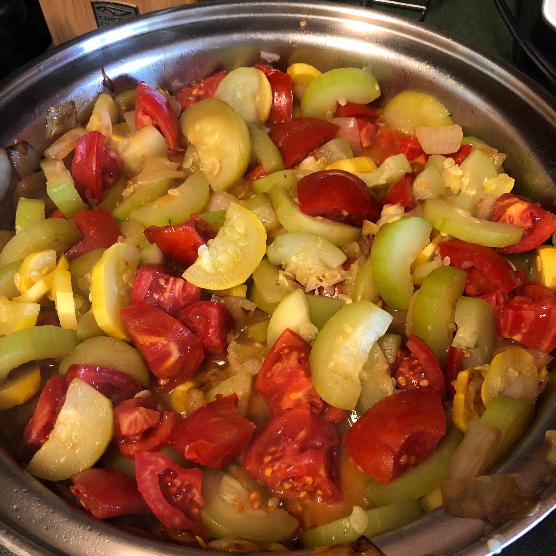 Tomato Zucchini Squash Skillet Rose Myracle Lambert Harris