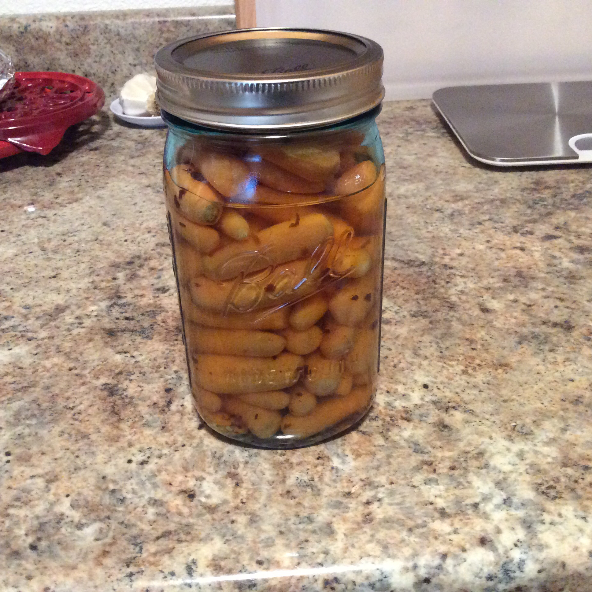 Vinegar Pickled Carrots