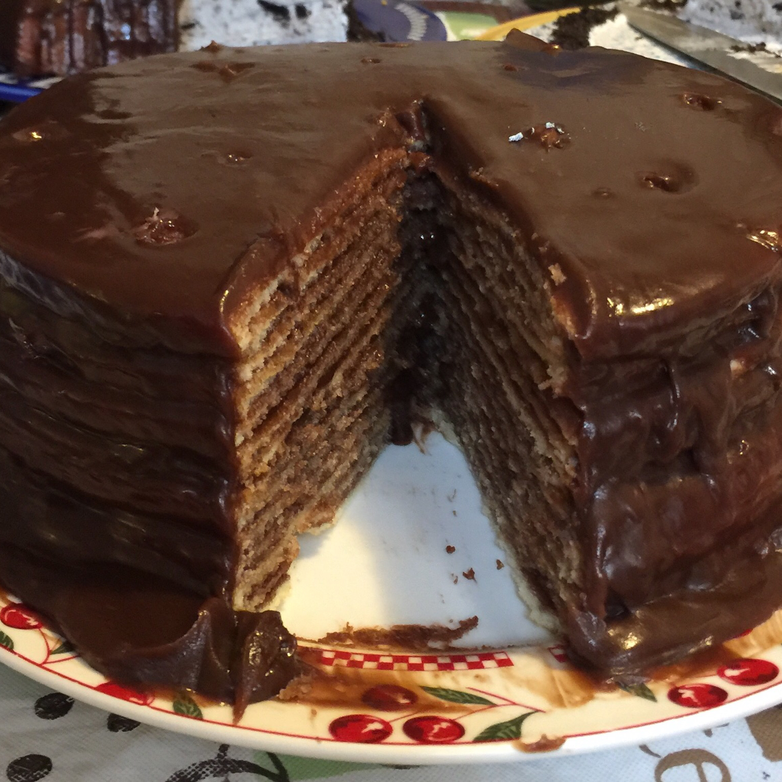 Fourteen Layer Chocolate Cake