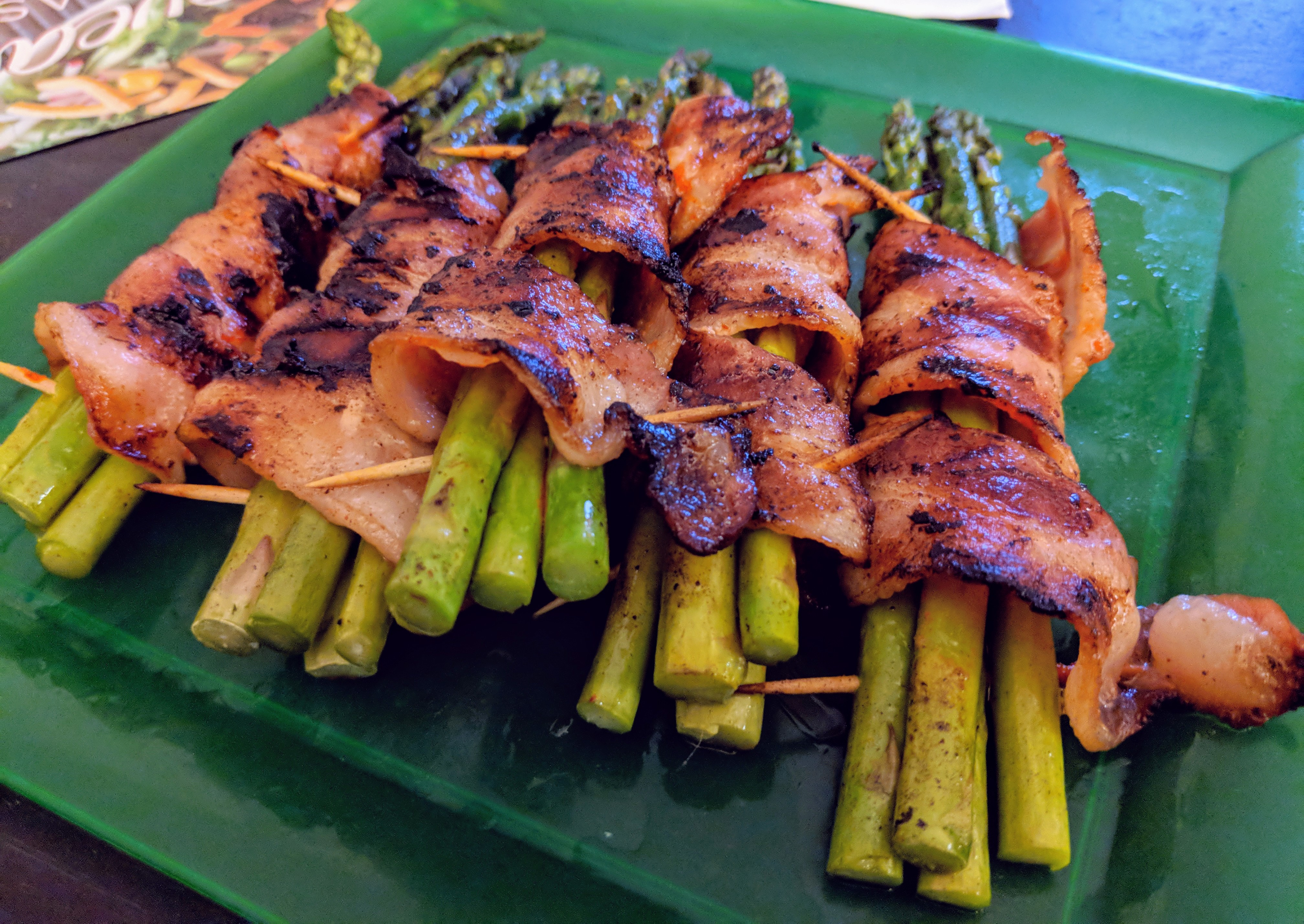 Bacon-Wrapped Sriracha Asparagus