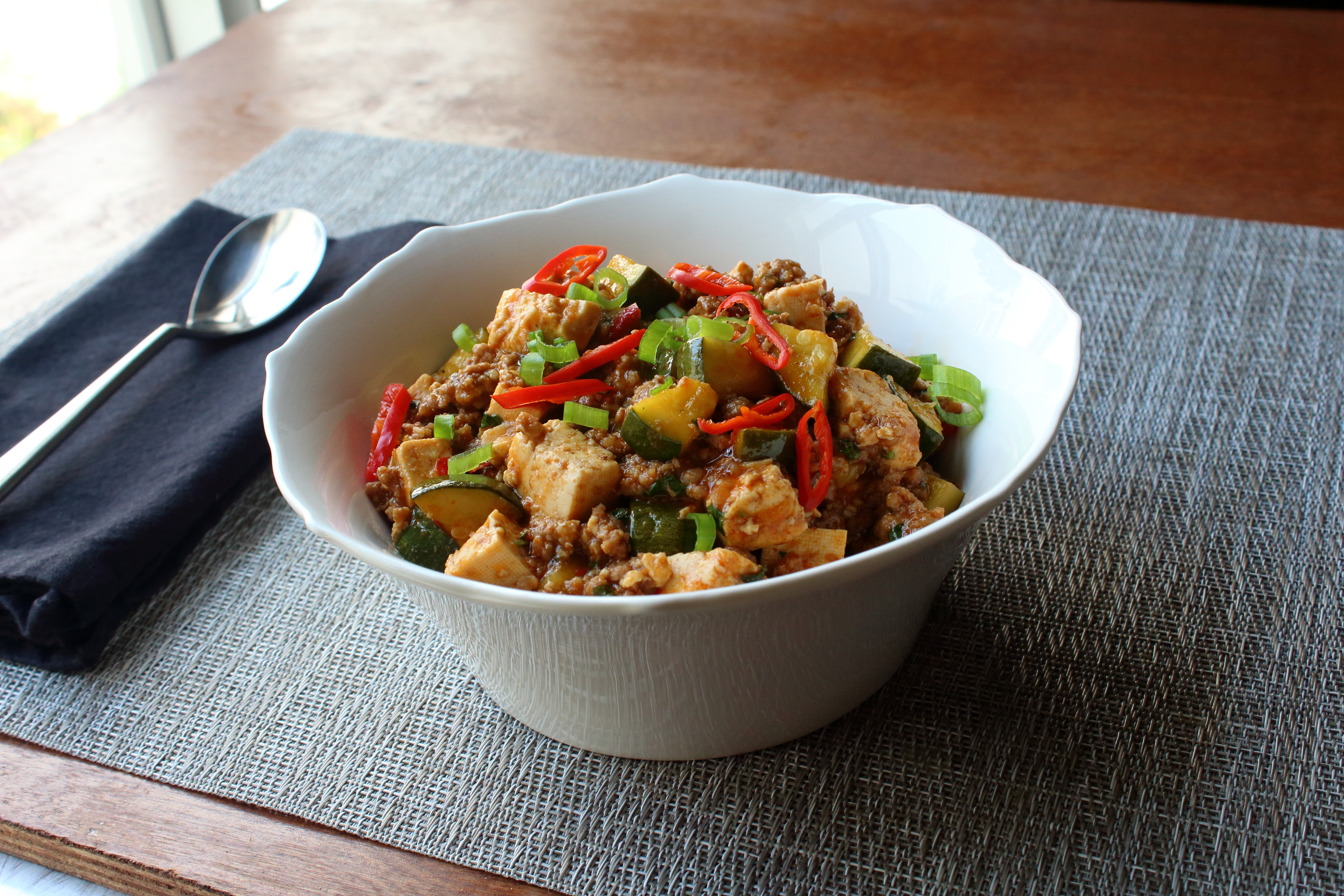 Spicy Pork and Vegetable Tofu
