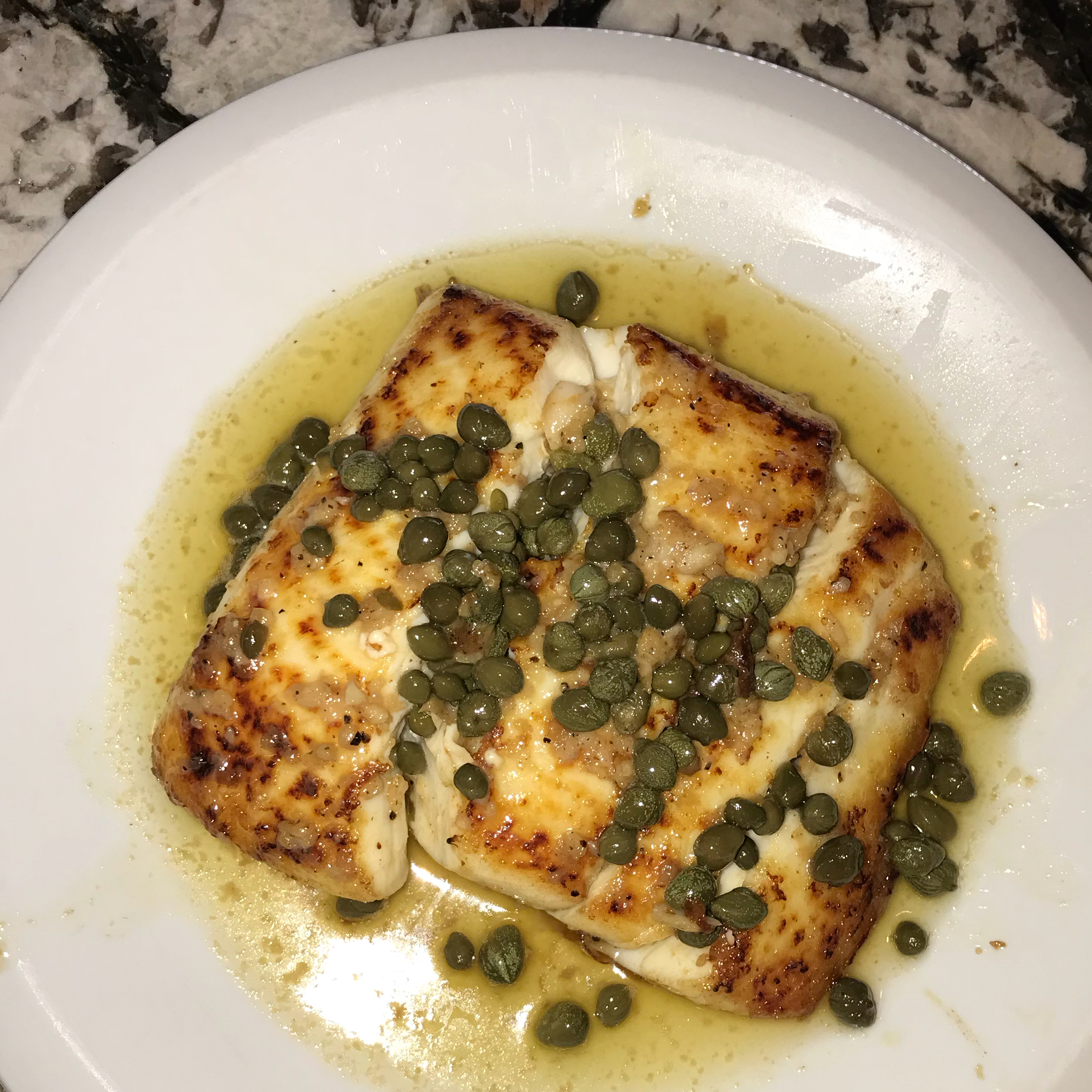 Capers and Halibut liz r