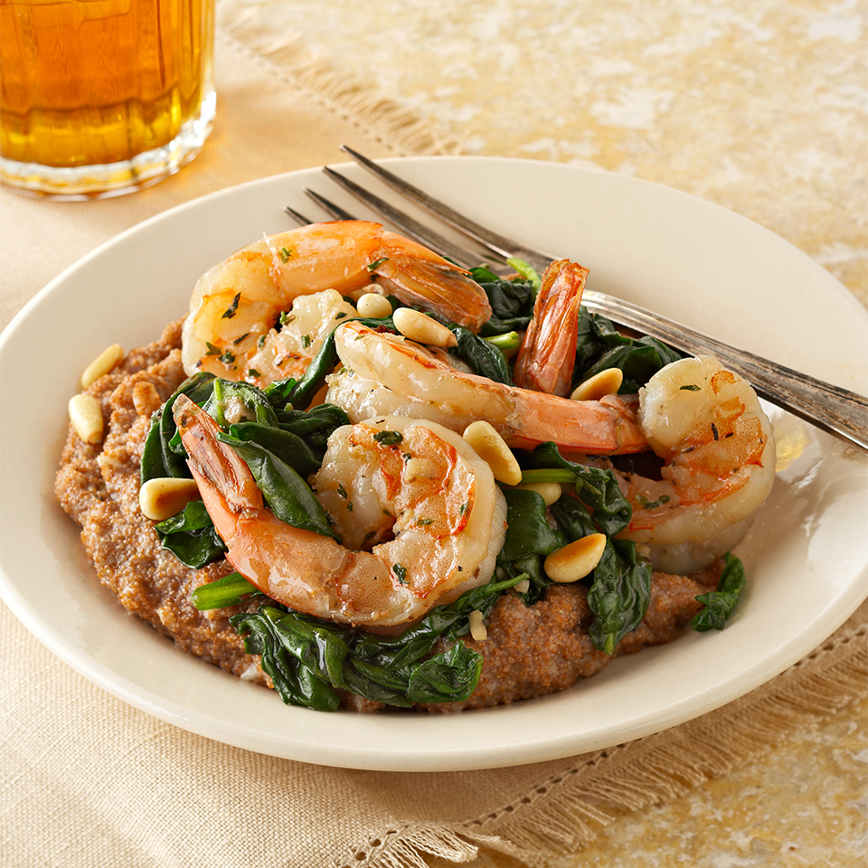 Garlic Shrimp over Teff Diabetic Living Magazine