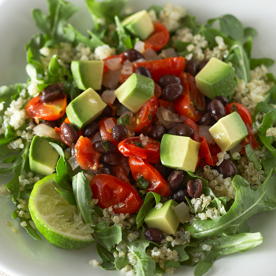 Black Beans & Avocado on Quinoa Diabetic Living Magazine