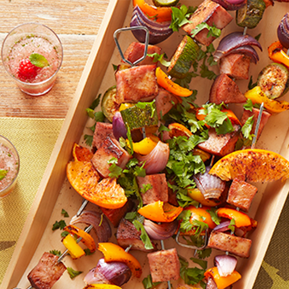 Island-Spiced Ham Skewers Trusted Brands